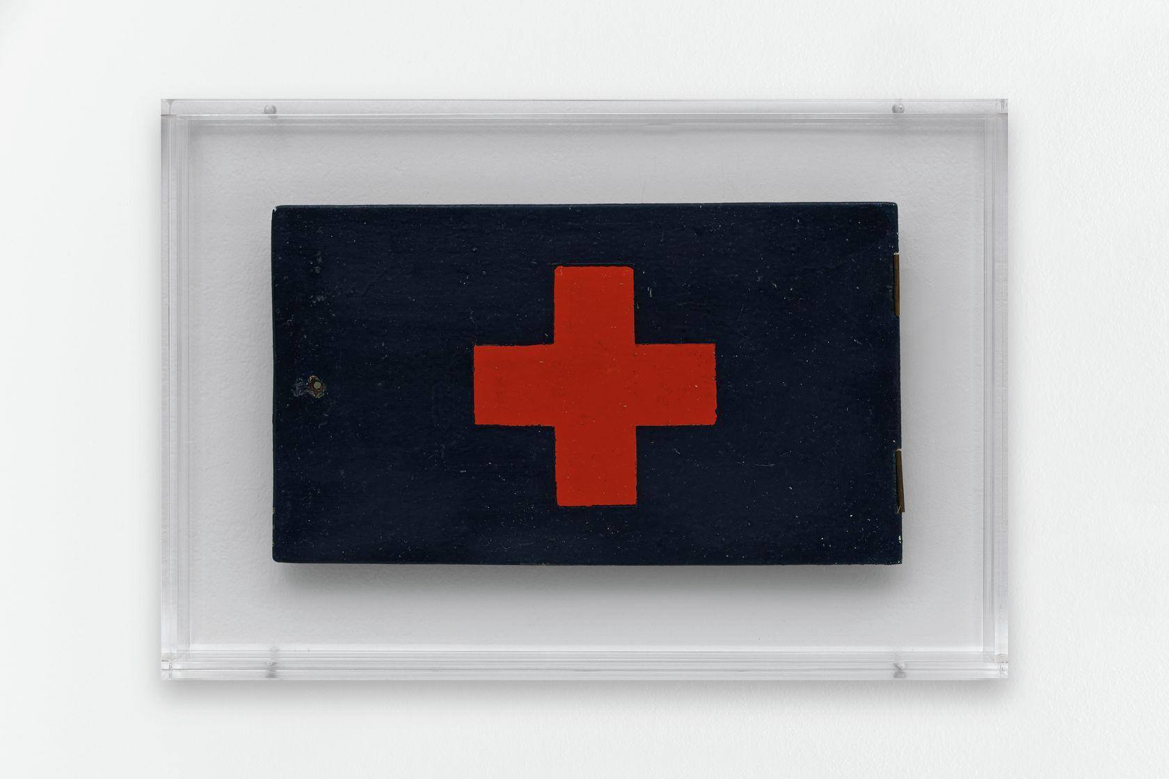 Ernest T., Infirmerie, 1972 Peinture laquée sur boisBoîte en plexiglas 28 × 41 × 6 cm / 11  × 16 1/8 × 2 3/8 in. (encadré/framed)