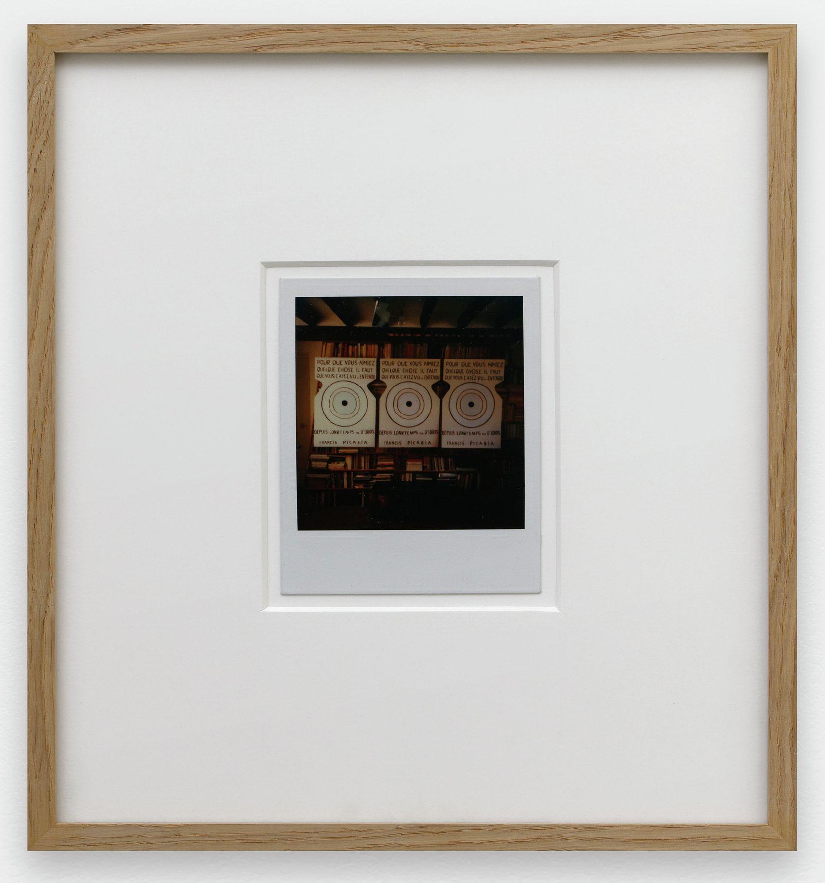 Ernest T., Sans titre, 1985 Polaroïd10.7 × 8.8 cm / 4 2/8 × 3 1/2 in. | 28 × 26 × 3 cm / 11  × 10 2/8 × 1 1/8 in. (encadré/framed)