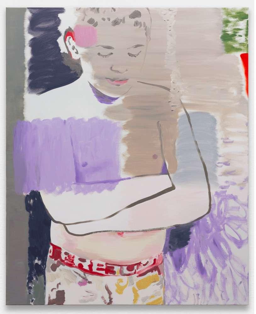 Françoise Pétrovitch, Sans titre, 2019 Huile sur toile160 x 130 cm / 63  x 51 1/8 inches