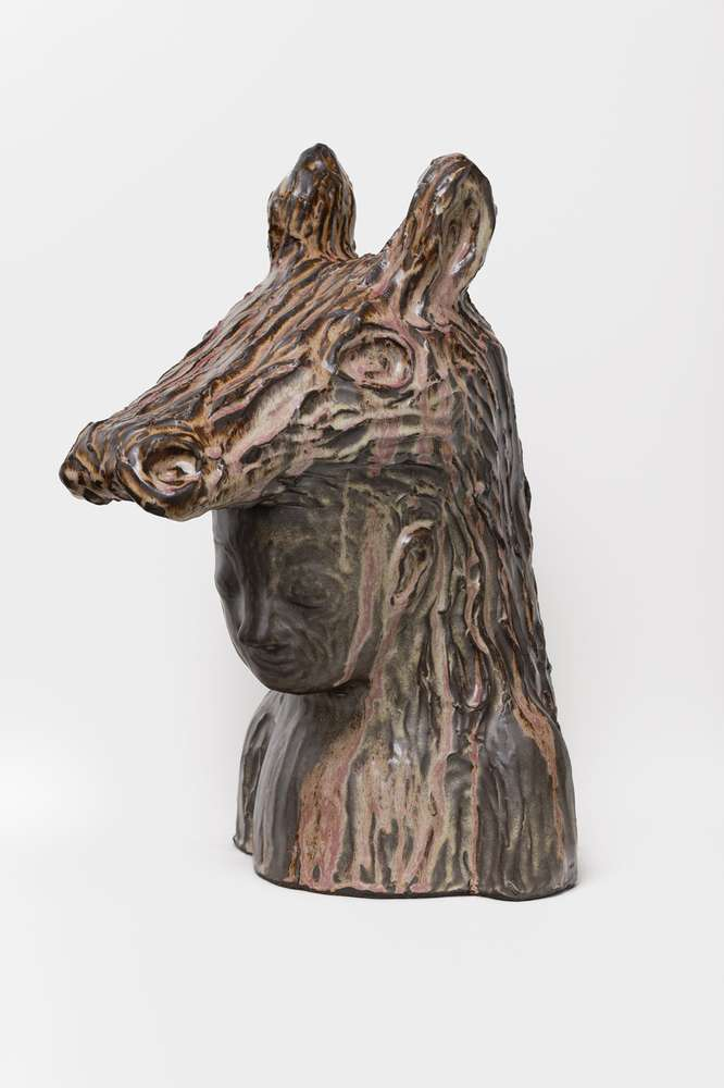 Françoise Pétrovitch, Peau d'âne, 2018 Grès émaillé, pièce unique (6 variations) - Production Keramis58 × 33 × 42 cm / 22 7/8 × 13  × 16 1/2 in.