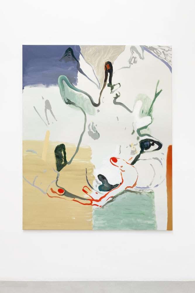 Françoise Pétrovitch, Tenir, 2018 Huile sur toile160 x 130 cm / 63  x 51 1/8 inches