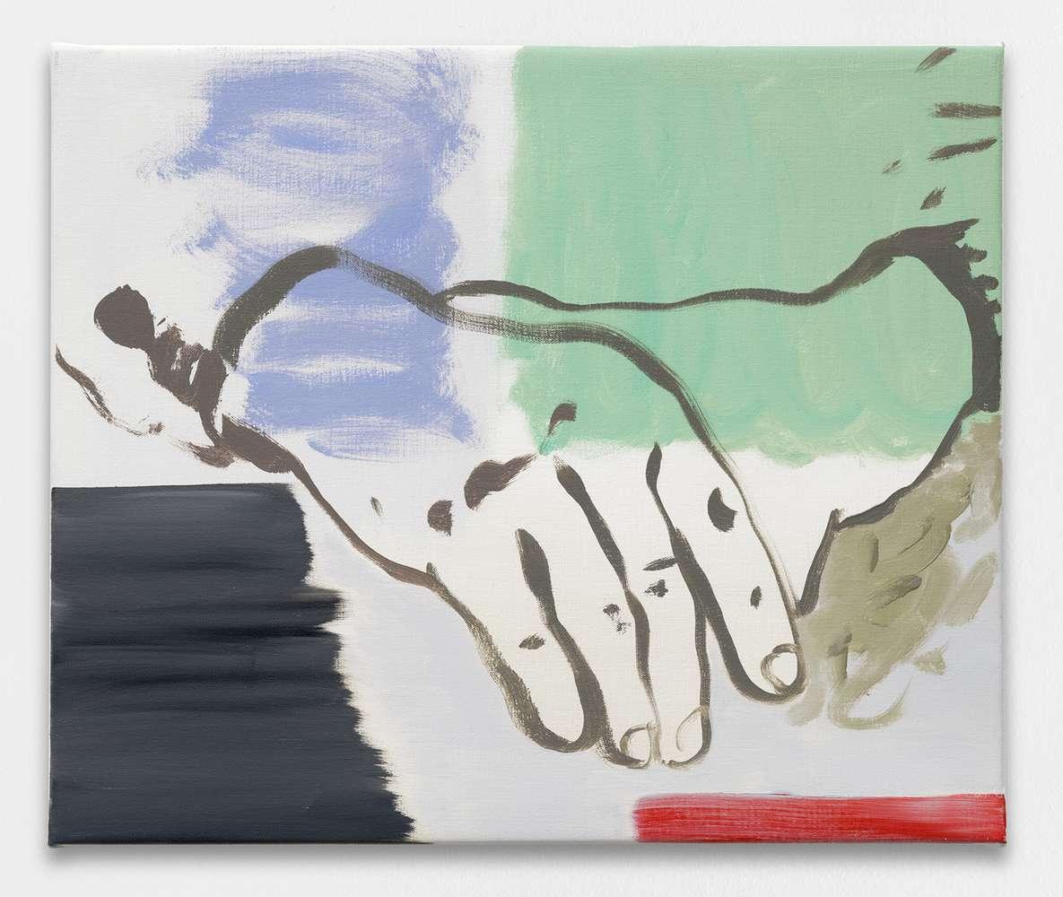 Françoise Pétrovitch, Sans titre, 2018 Huile sur toile46 × 55 cm / 18 1/8 × 21 5/8 in.