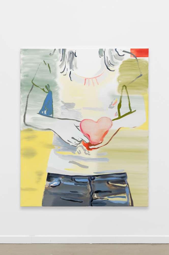 Françoise Pétrovitch, Dans mes mains, 2018 Huile sur toile160 × 120 cm / 63  × 47 2/8 in.