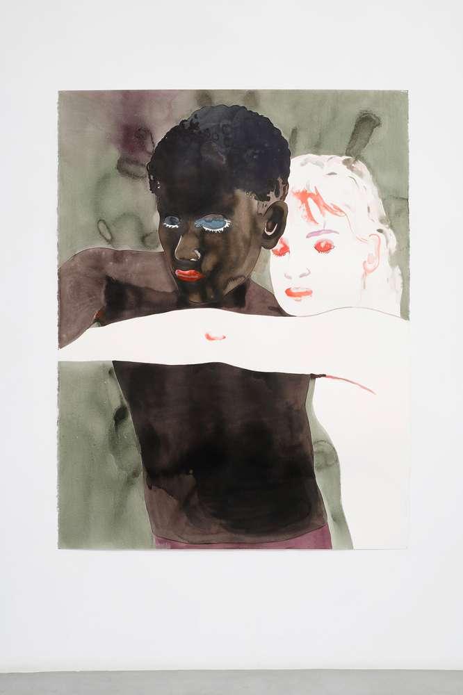 Françoise Pétrovitch, Sans titre, 2018 Lavis d'encre sur papier160 × 120 cm / 63  × 47 2/8 in.