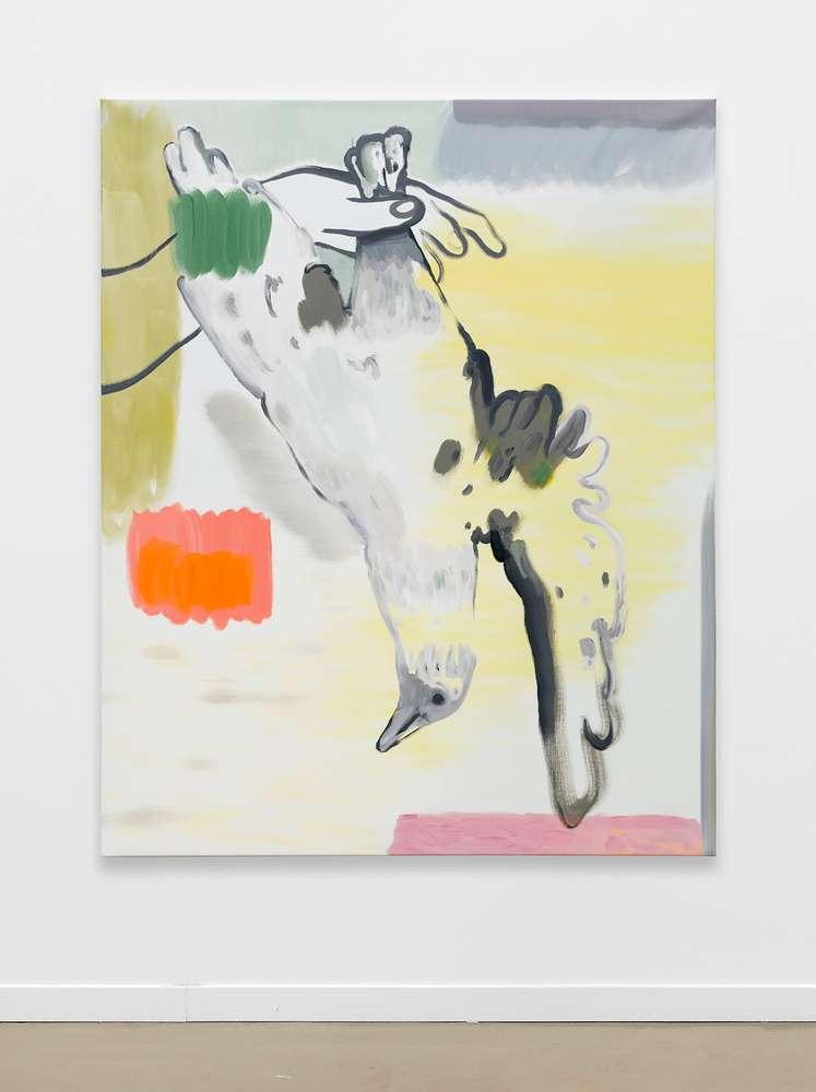 Françoise Pétrovitch, Trophée, 2018 Huile sur toile160 × 130 cm / 63  × 51 1/8 in.