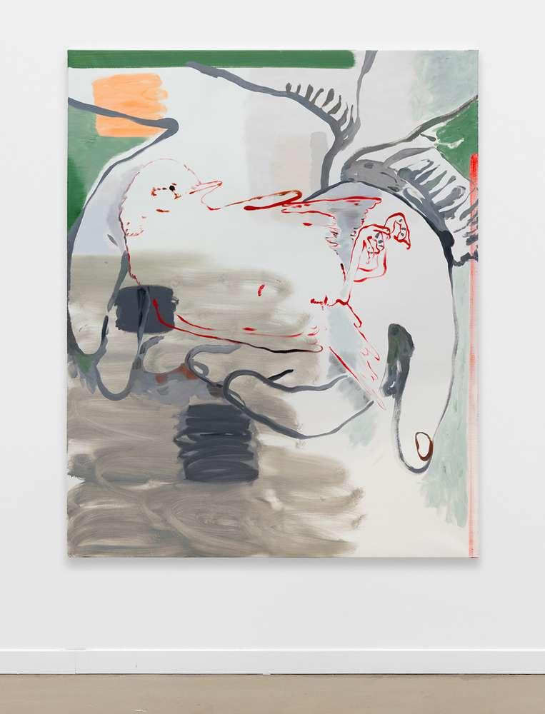 Françoise Pétrovitch, Dans mes mains, 2018 Huile sur toile160 × 130 cm / 63  × 51 1/8 in.