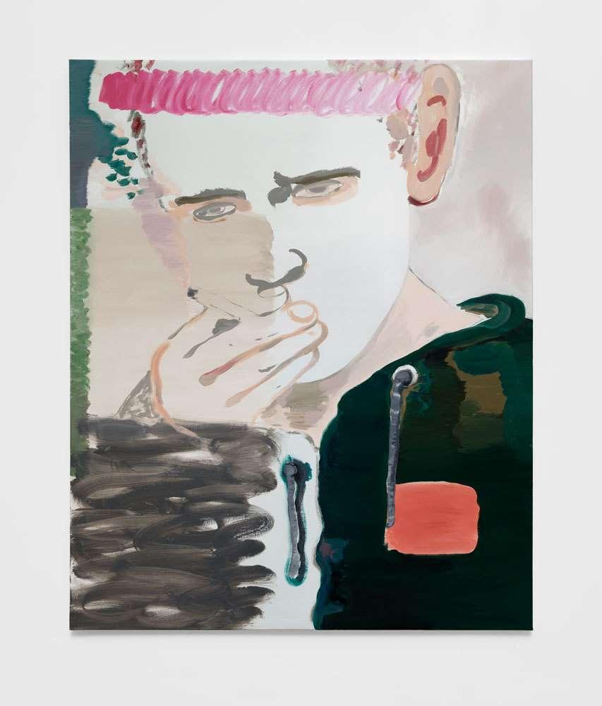 Françoise Pétrovitch, Fumeur, 2019 Huile sur toile160 × 130 cm / 63  × 51 1/8 in.