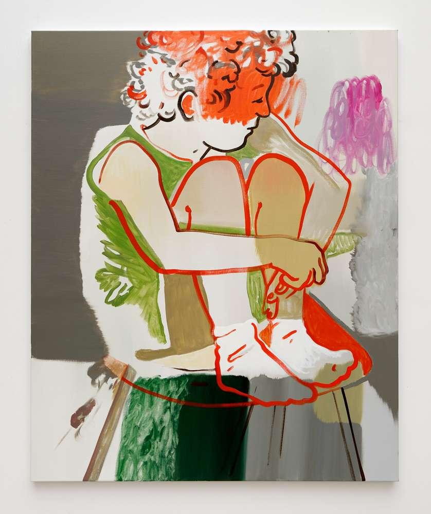 Françoise Pétrovitch, Sans titre, 2017 Huile sur toile160 × 130 cm / 63  × 51 1/8 in.