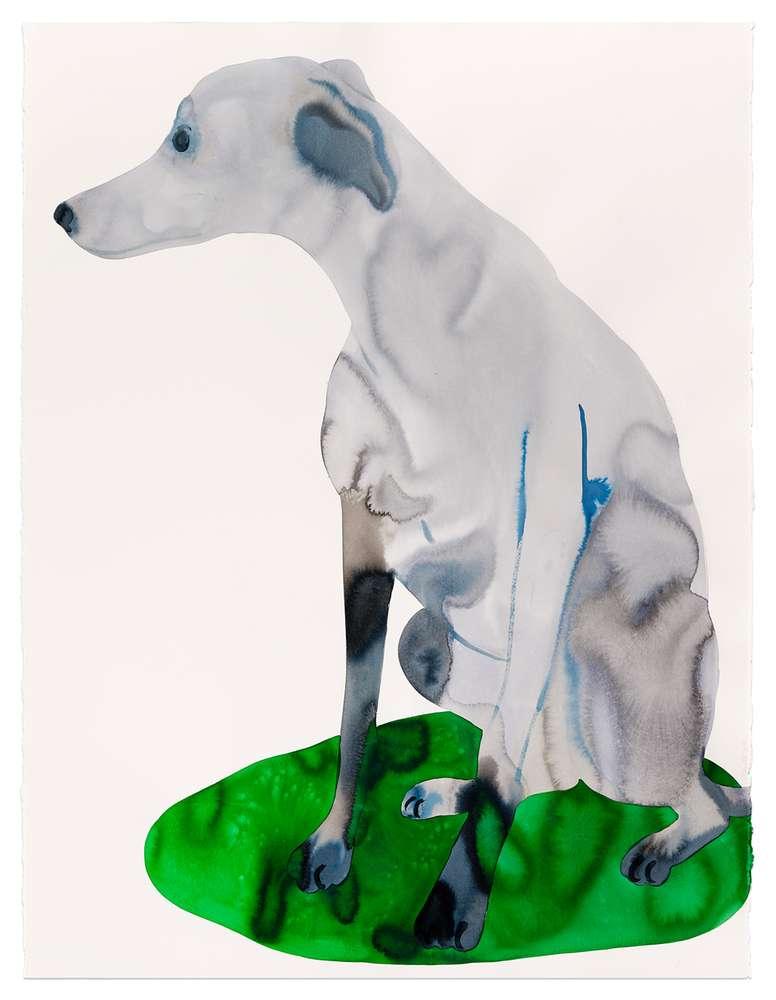 Françoise Pétrovitch, Sans titre, 2018 Lavis d'encre sur papier160 x 120 cm / 63  x 47 2/8 inches