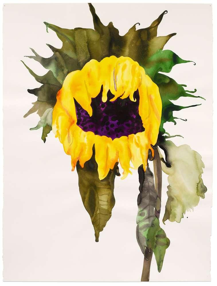 Françoise Pétrovitch, Soleil, 2017 Lavis d'encre sur papier160 × 120 cm / 63  × 47 2/8 in.174.5 × 136 cm / 68 6/8 × 53 1/2 in. (encadré/framed)