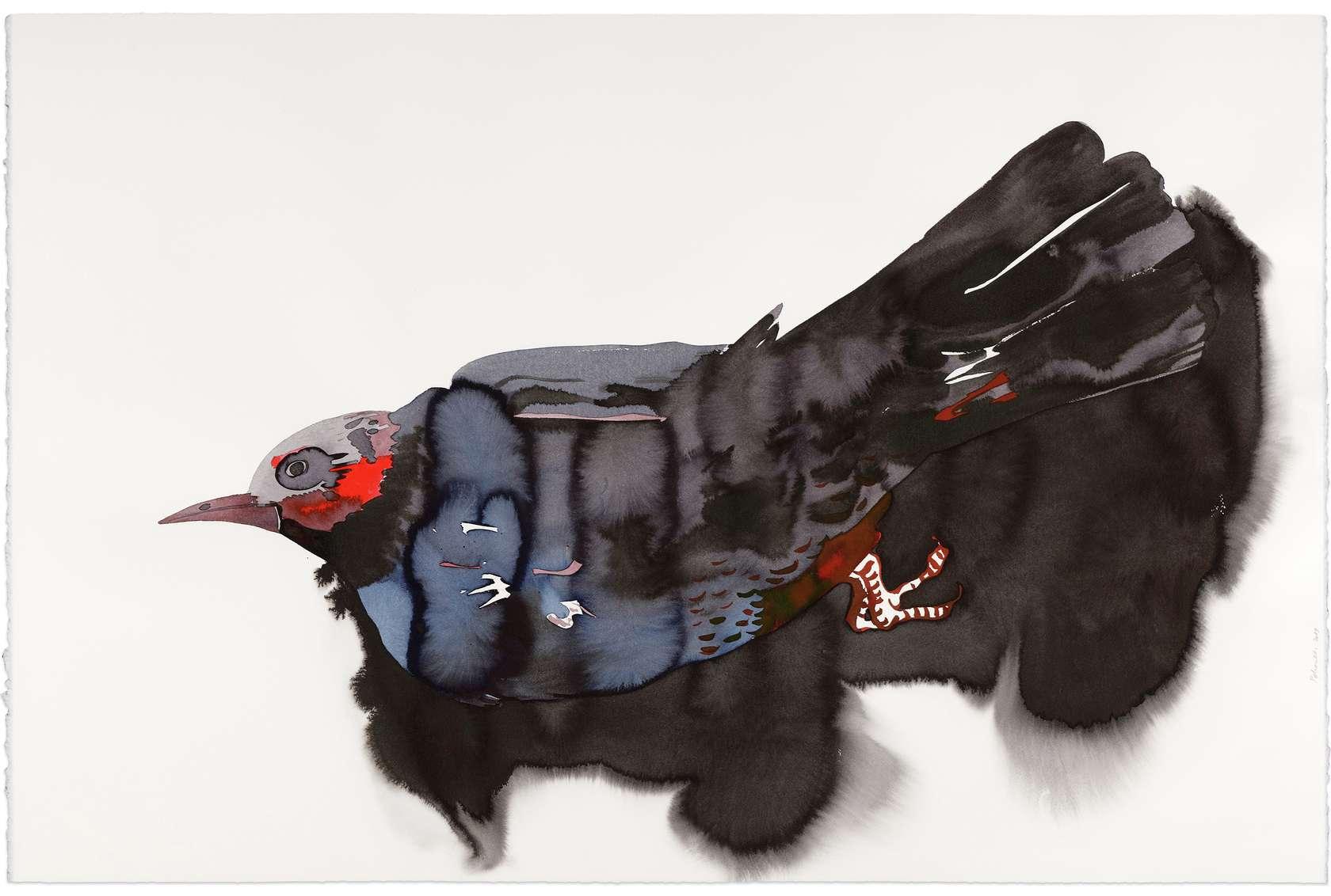 Françoise Pétrovitch, Vanité, 2019 Lavis d'encre sur papier80 × 120 cm / 31 1/2 × 47 2/8 in. | 96 × 137 × 4.5 cm / 37 6/8 × 53 7/8 × 1 6/8 in. (encadré/framed)