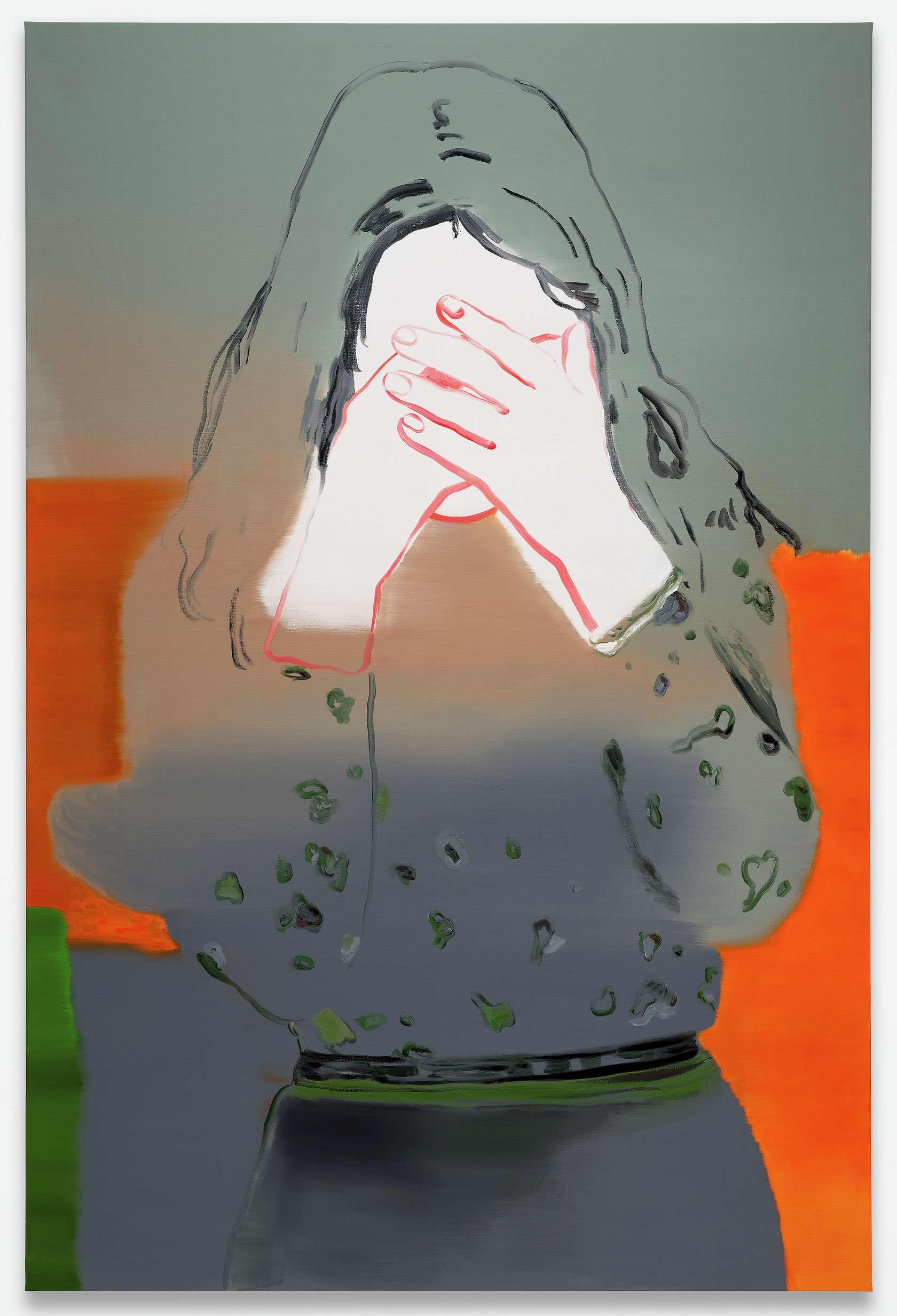 Françoise Pétrovitch, Lucie, 2020 Huile sur toile240 × 160 cm / 94 1/2 × 63  in.