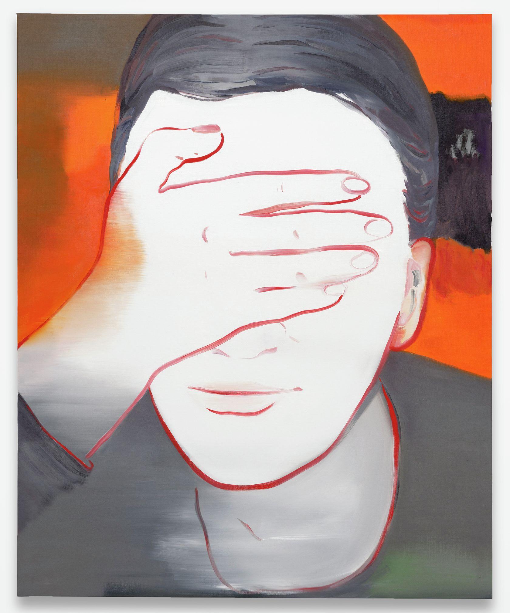 Françoise Pétrovitch, Aveuglé, 2020 Huile sur toile160 × 130 cm / 63  × 51 1/8 in.