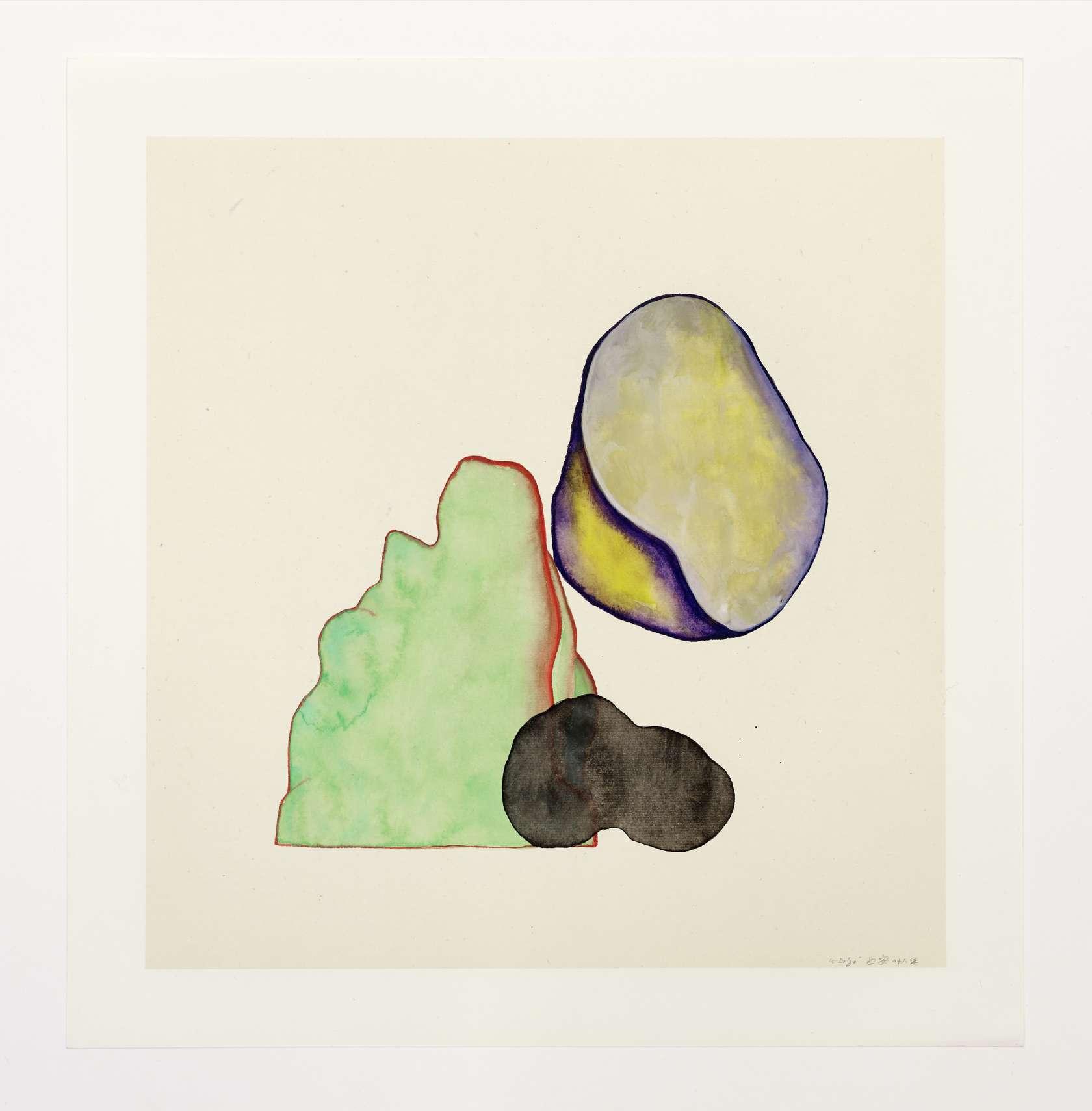 Guillaume Dégé, Sans titre, 2018 Gouache sur papier chinois contrecollé sur toile32.5 x 31 cm / 12 6/8 x 12 2/8 inches