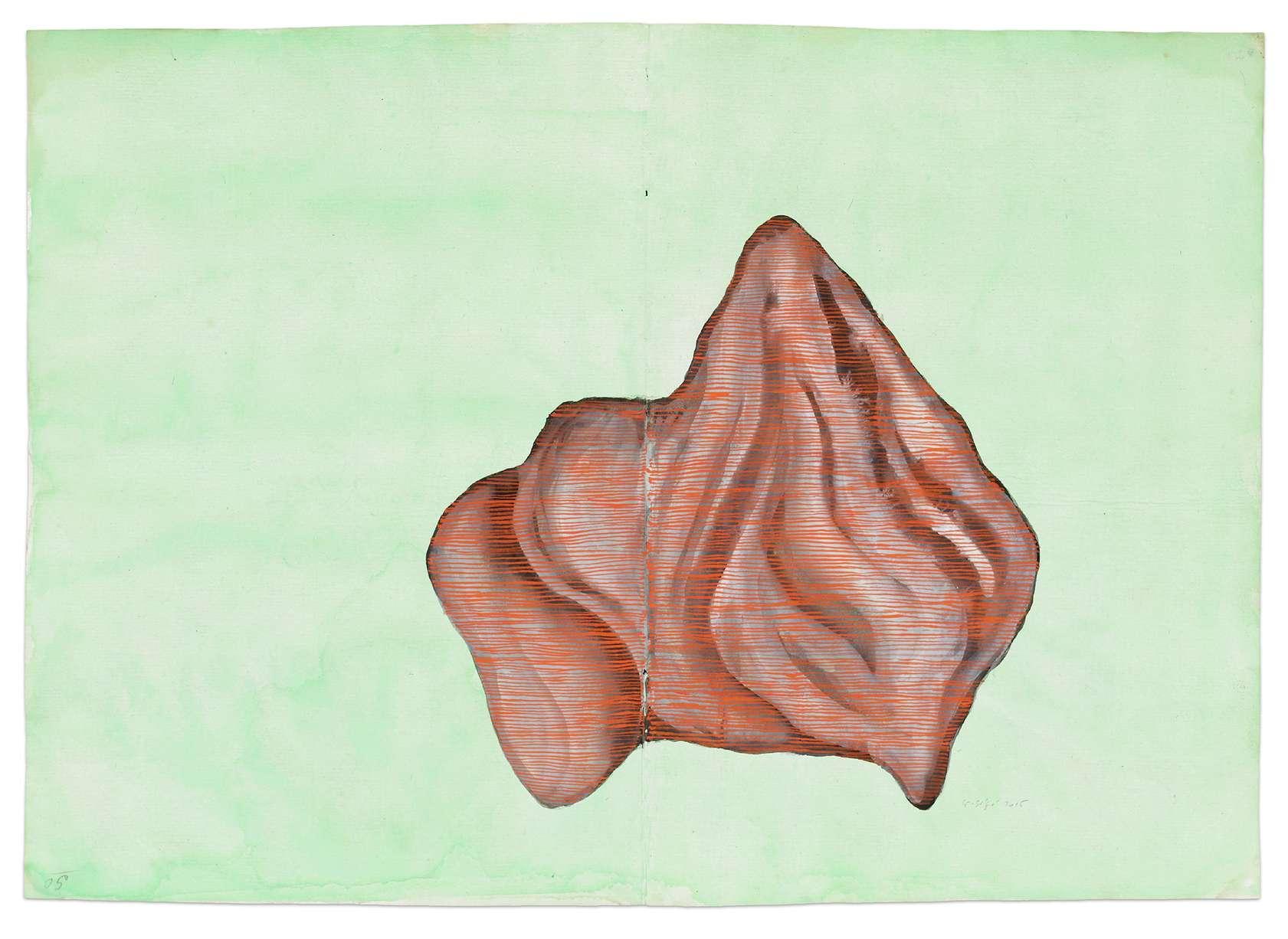 Guillaume Dégé, Sans titre, 2015 Gouache sur papier XVIIIe25.9 × 36.8 cm / 10 2/8 × 14 1/2 in. | 43.5 × 54.5 × 2.5 cm / 17 1/8 × 21 1/2 × 1  in. (encadré/framed)