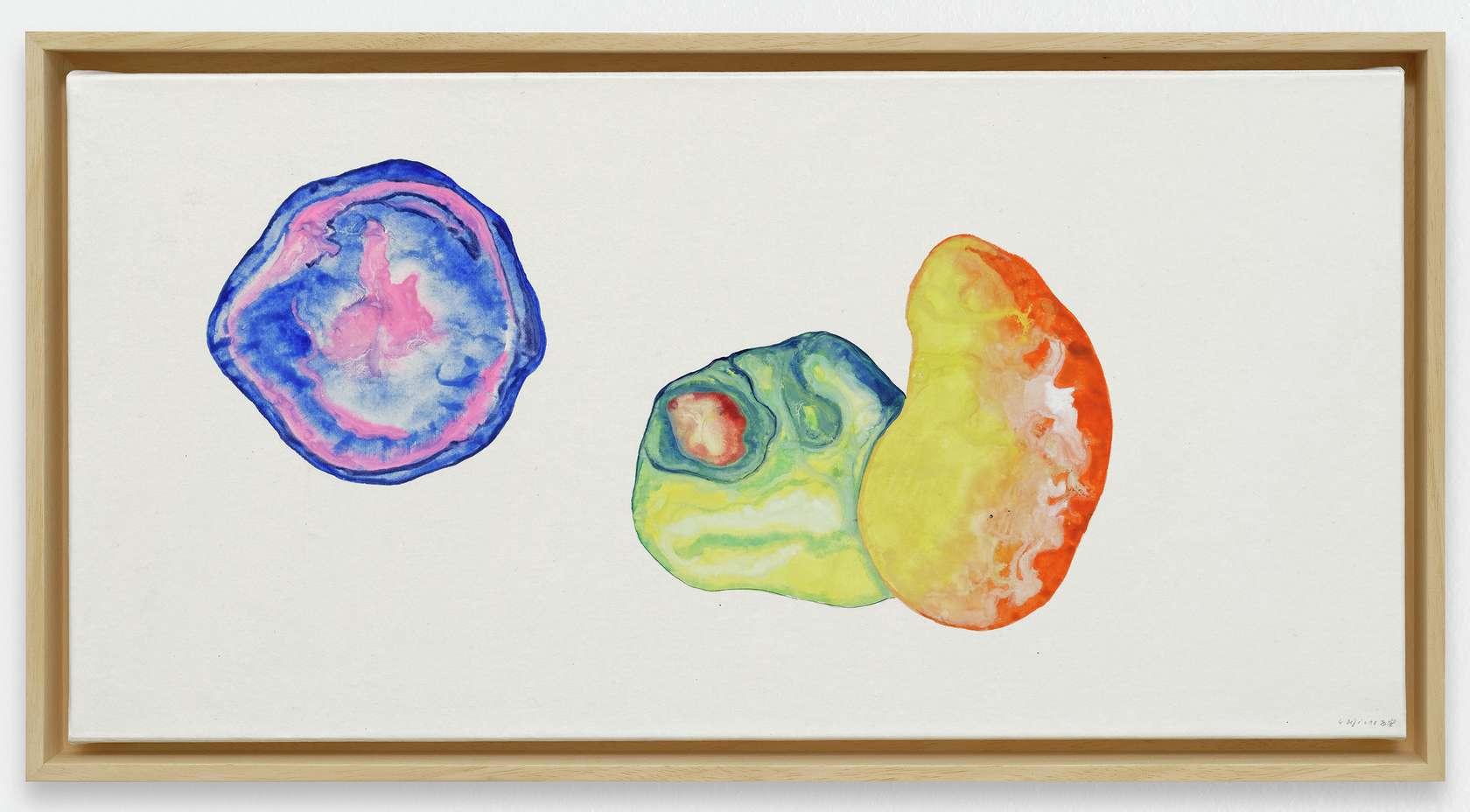 Guillaume Dégé, Un grain de moutarde, 2019 Gouache sur papier chinois marouflé sur toile32.5 × 65 cm / 12 6/8 × 25 5/8 in.