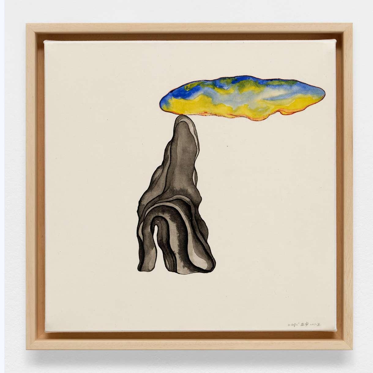 Guillaume Dégé,  Sans titre, 2018 Gouache sur papier chinois contrecollé sur toile32.5 × 31 cm / 12 6/8 × 12 2/8 in.