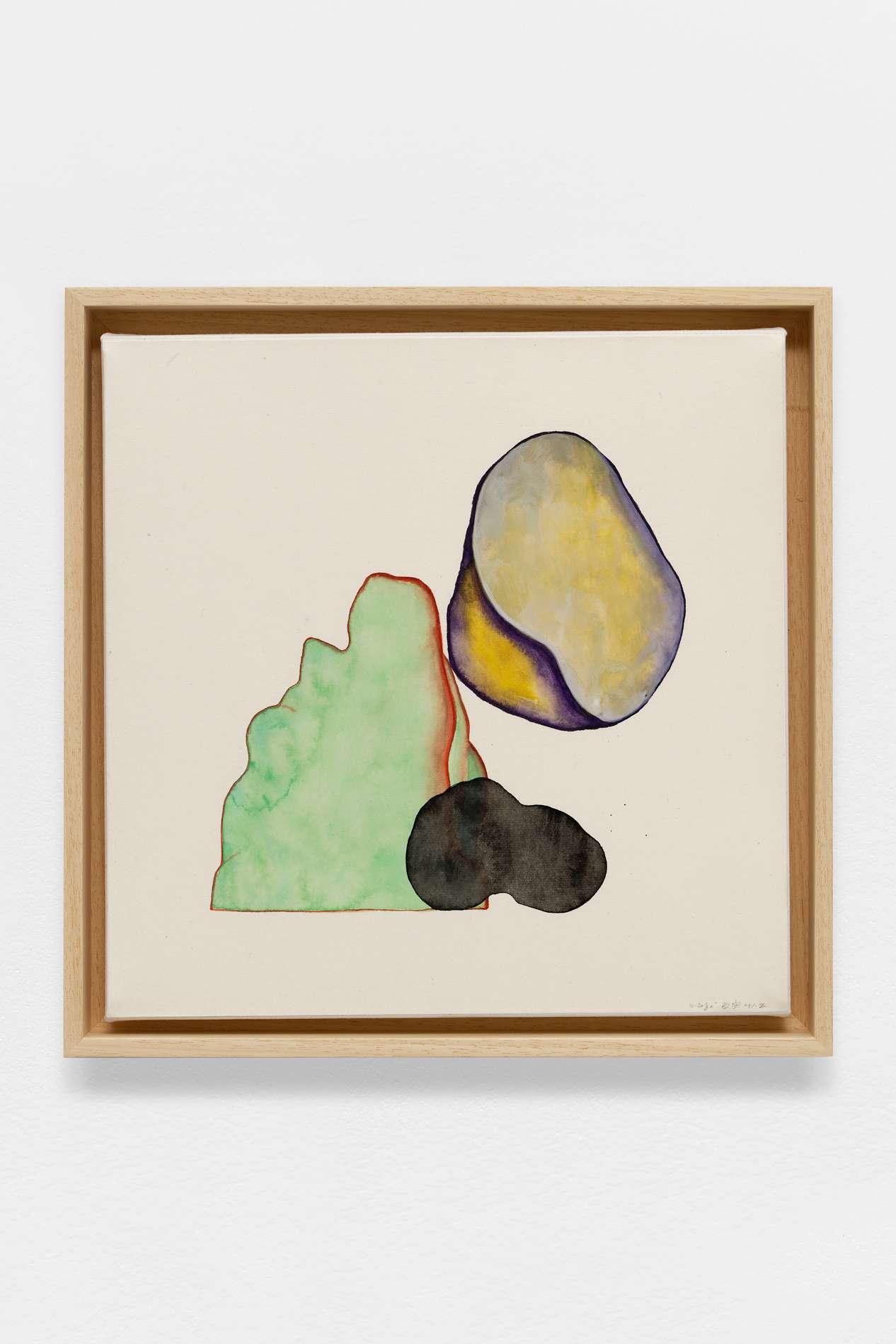 Guillaume Dégé, Sans titre, 2018 Gouache sur papier chinois contrecollé sur toile32.5 x 31cm / 12 6/8 x 12 2/8inches