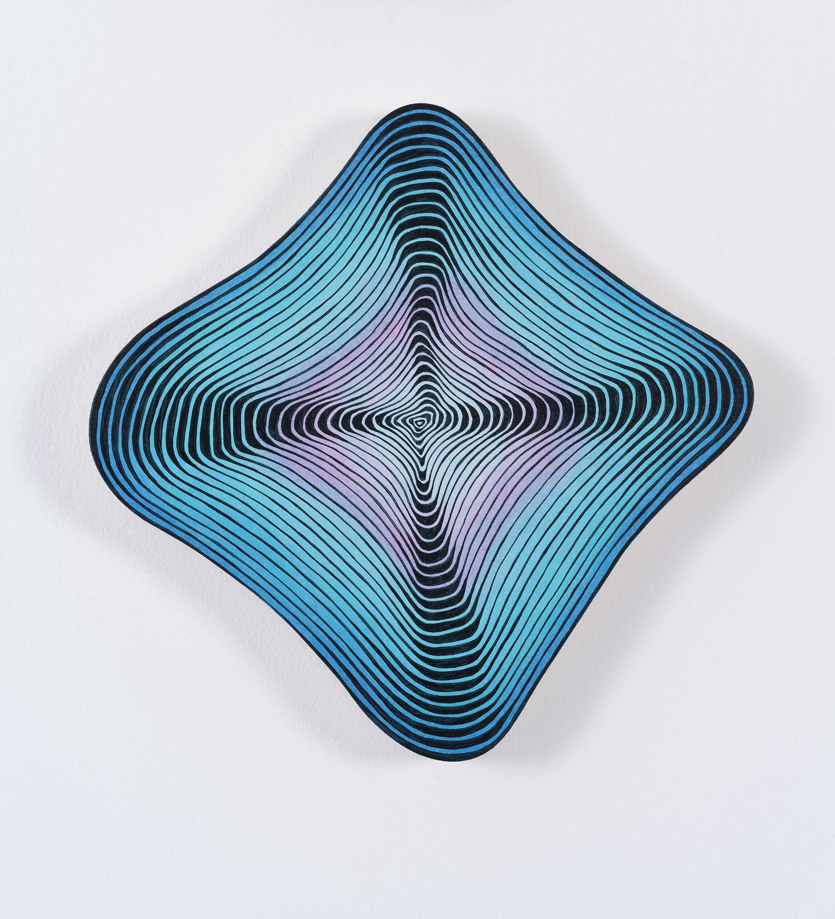 Guillaume Pilet, Emotional Response, 2020 Acrylique sur toile28 × 27 cm / 11  × 10 5/8 in.