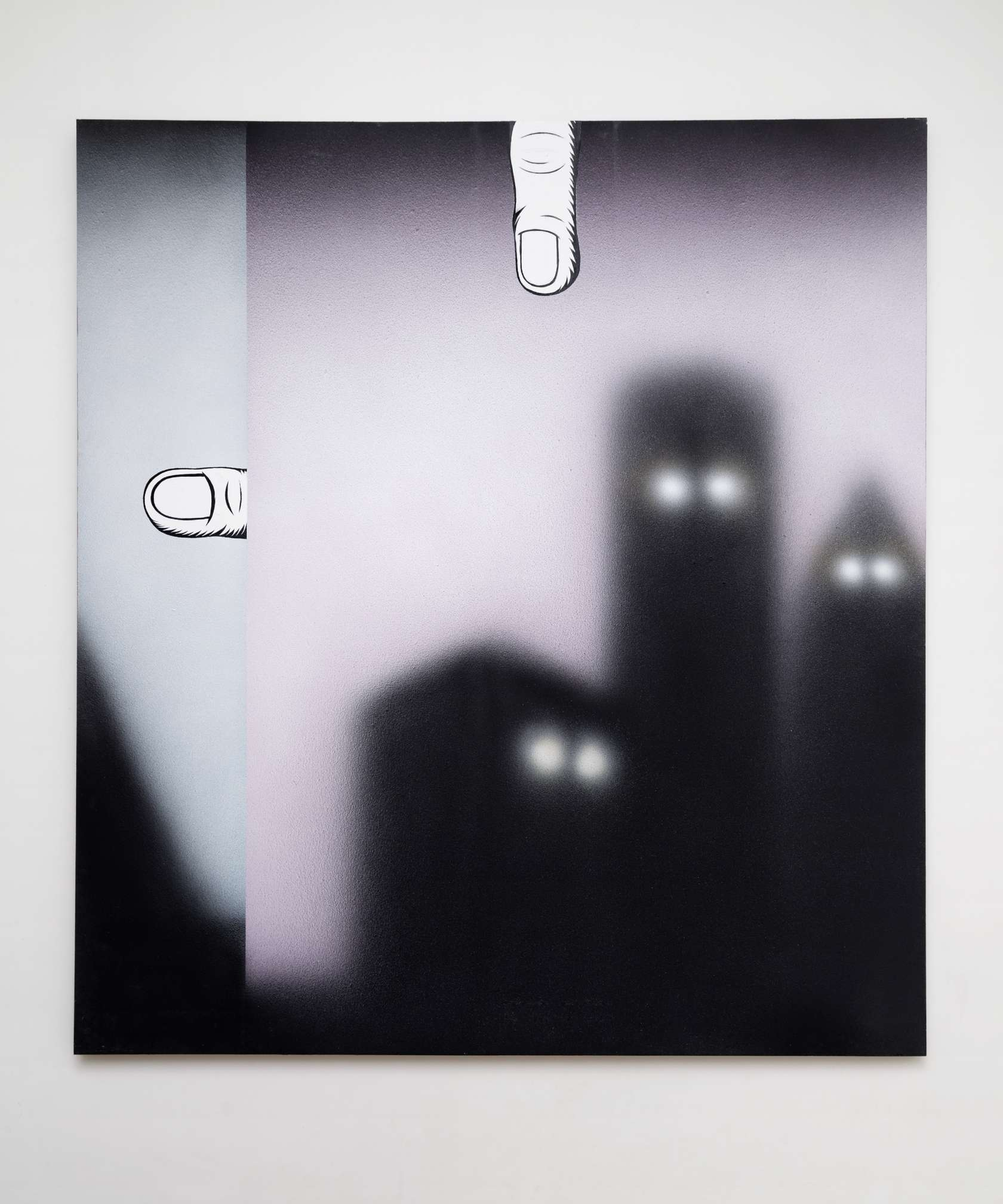 Hippolyte Hentgen, Les Fonds, 2012 Acrylique et encre sur bois220 x 200 cm / 86 5/8 x 78 6/8 inches
