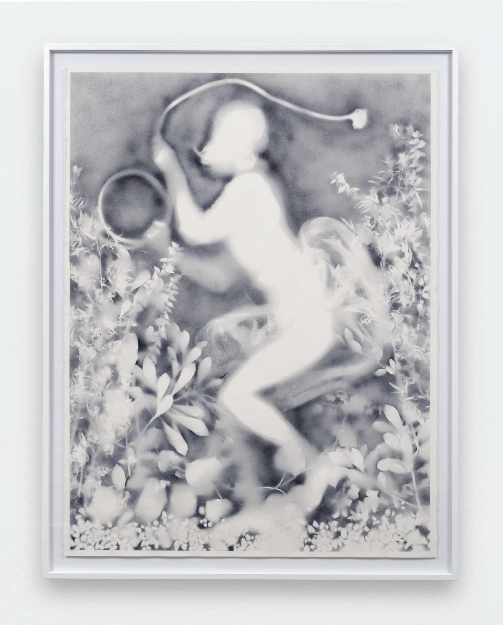 Hippolyte Hentgen, De la série des résistantes, 2016 Encre sur papier160 x 120 cm / 63  x 47 2/8 inches