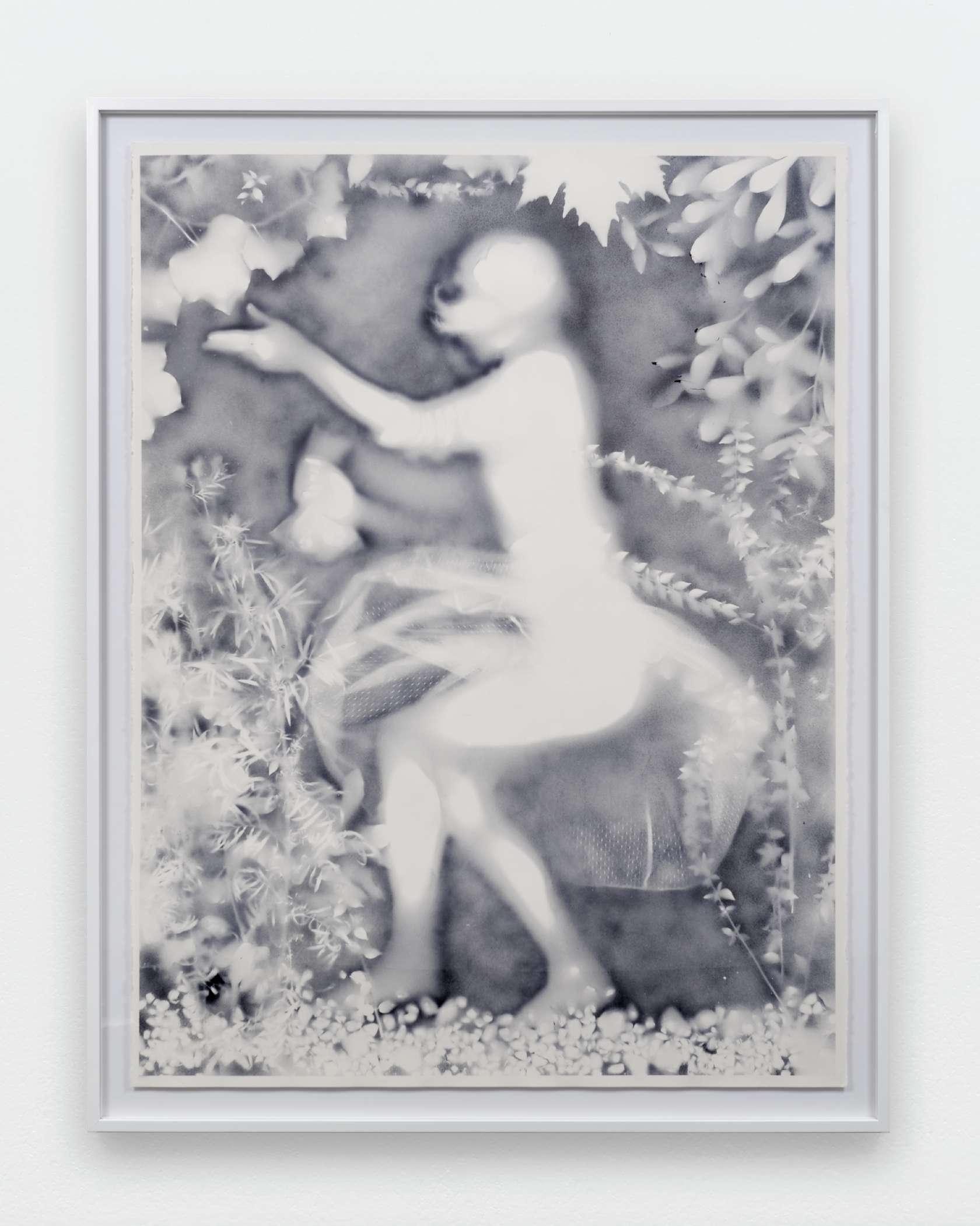 Hippolyte Hentgen, De la série les résistantes, 2016 Encre sur papier160 x 120 cm / 63  x 47 2/8 inches