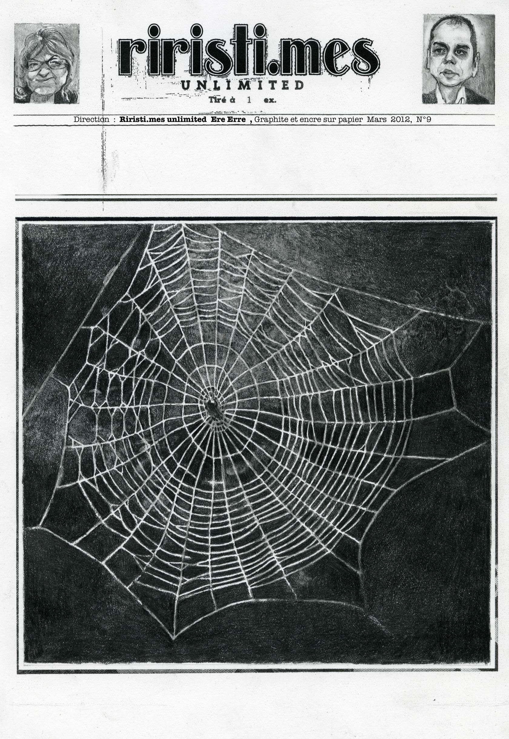 Julien Tiberi, Riristi.mes Unlimited (Ere Erre), 2012 Encre et graphite sur papier42 × 33 cm / 16 1/2 × 13  in.