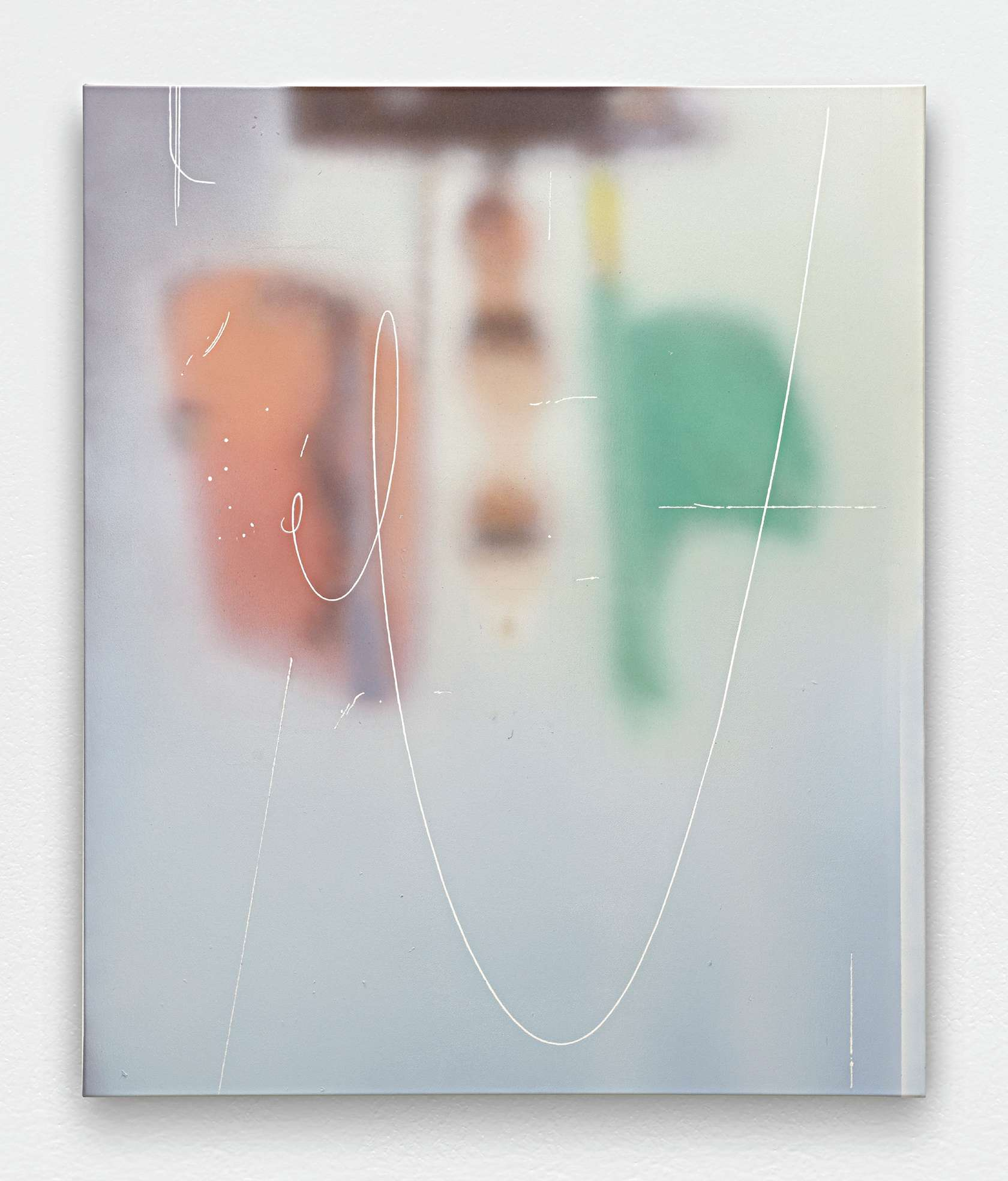 Julien Tiberi, Sans titre, 2016 Acrylique sur toile120 × 100 cm / 47 2/8 × 39 3/8 in.