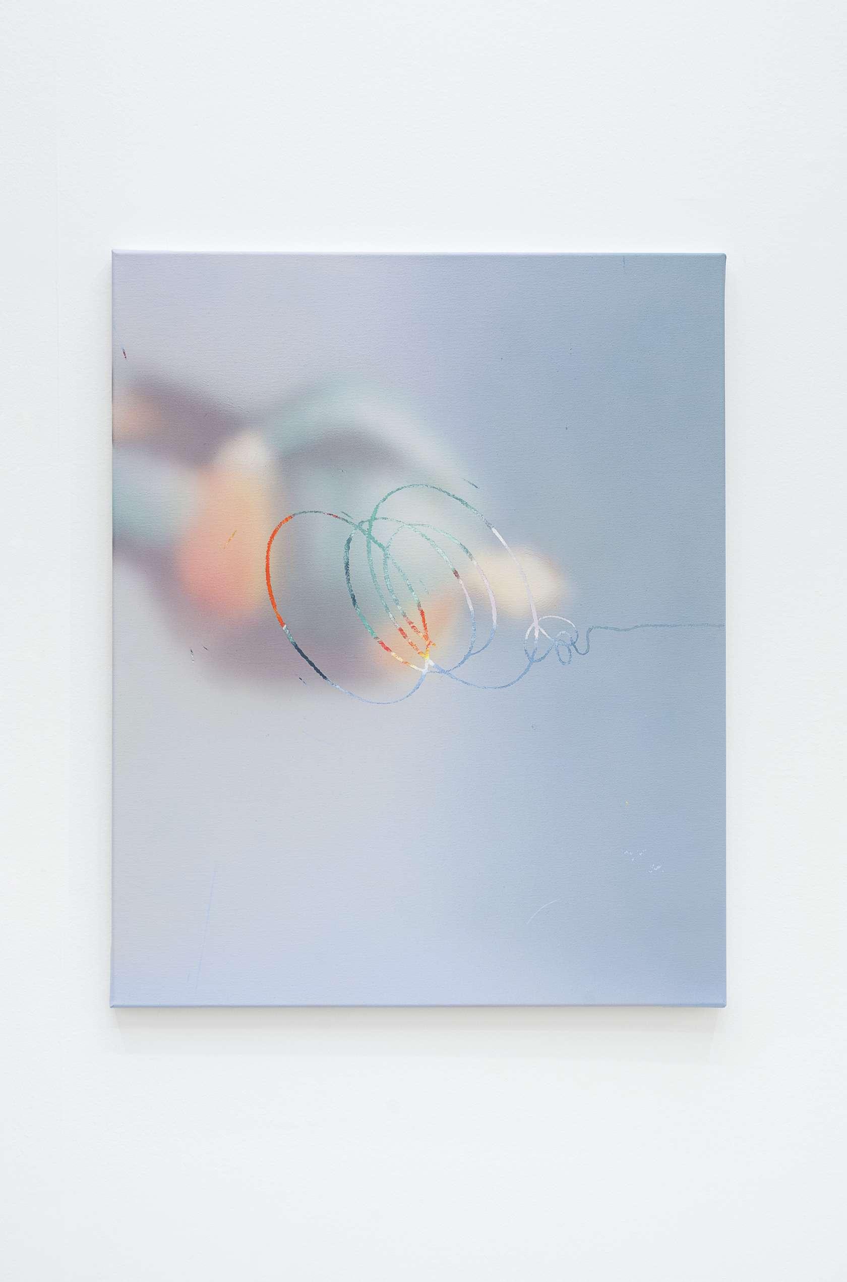 Julien Tiberi, O (Balloon Knot), 2017 Acrylique sur toile80 × 65 cm / 31 1/2 × 25 5/8 in.
