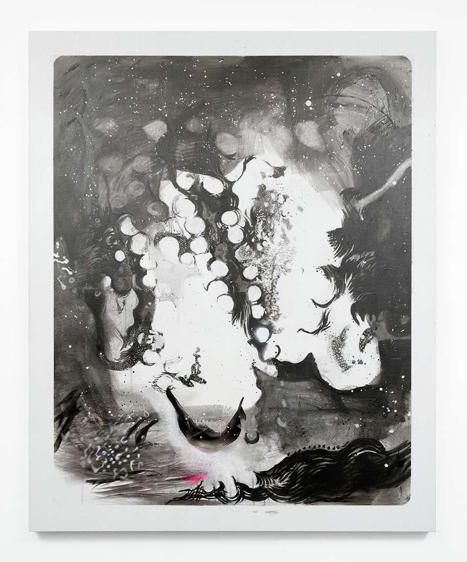 Julien Tiberi, Symphonic Lava, 2019 Peinture au graphite sur toile160 × 130 cm / 63  × 51 1/8 in.