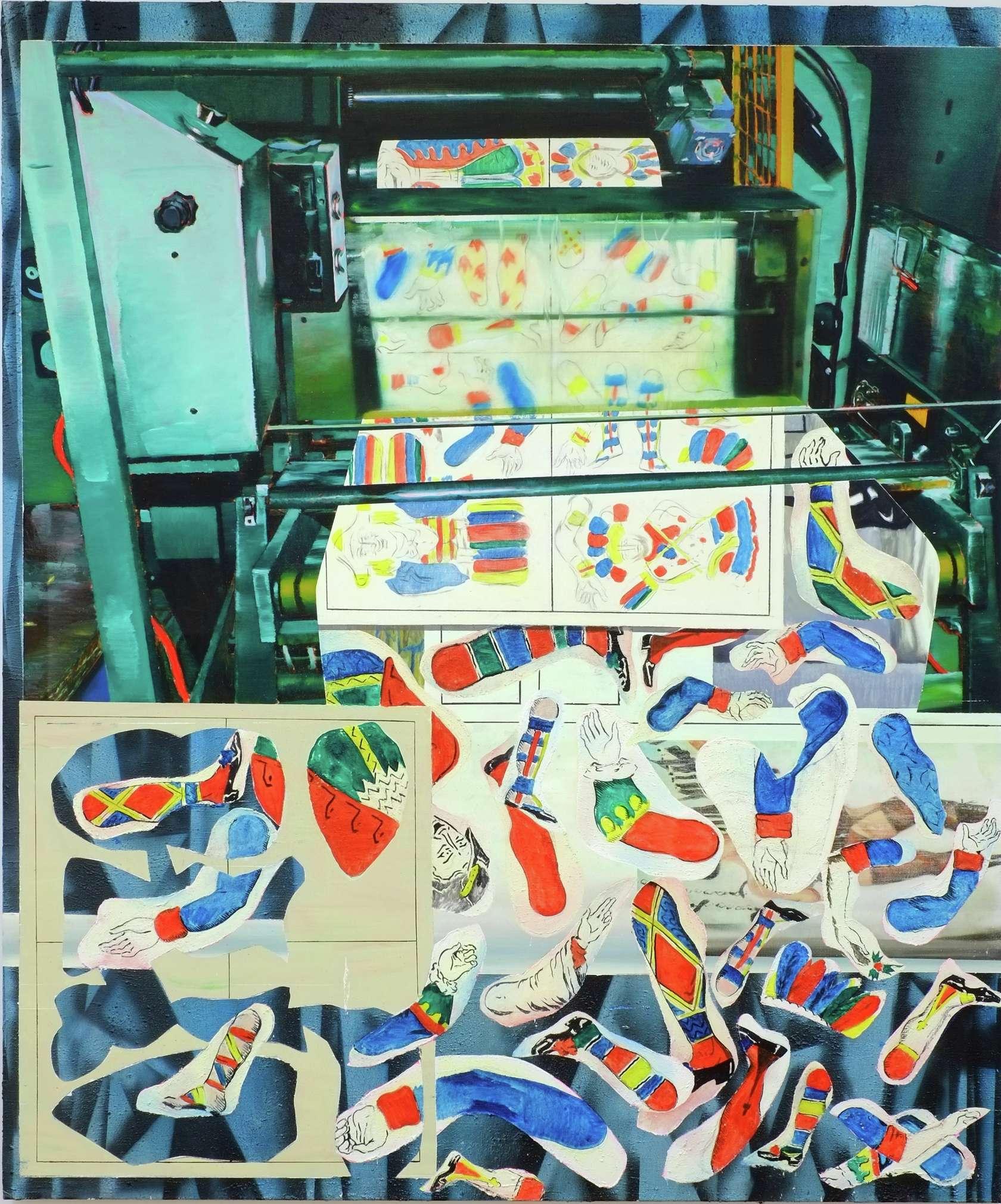 Laurent Proux, Découpe, 2015 Huile sur toile240 × 200 cm / 94 1/2 × 78 6/8 in.