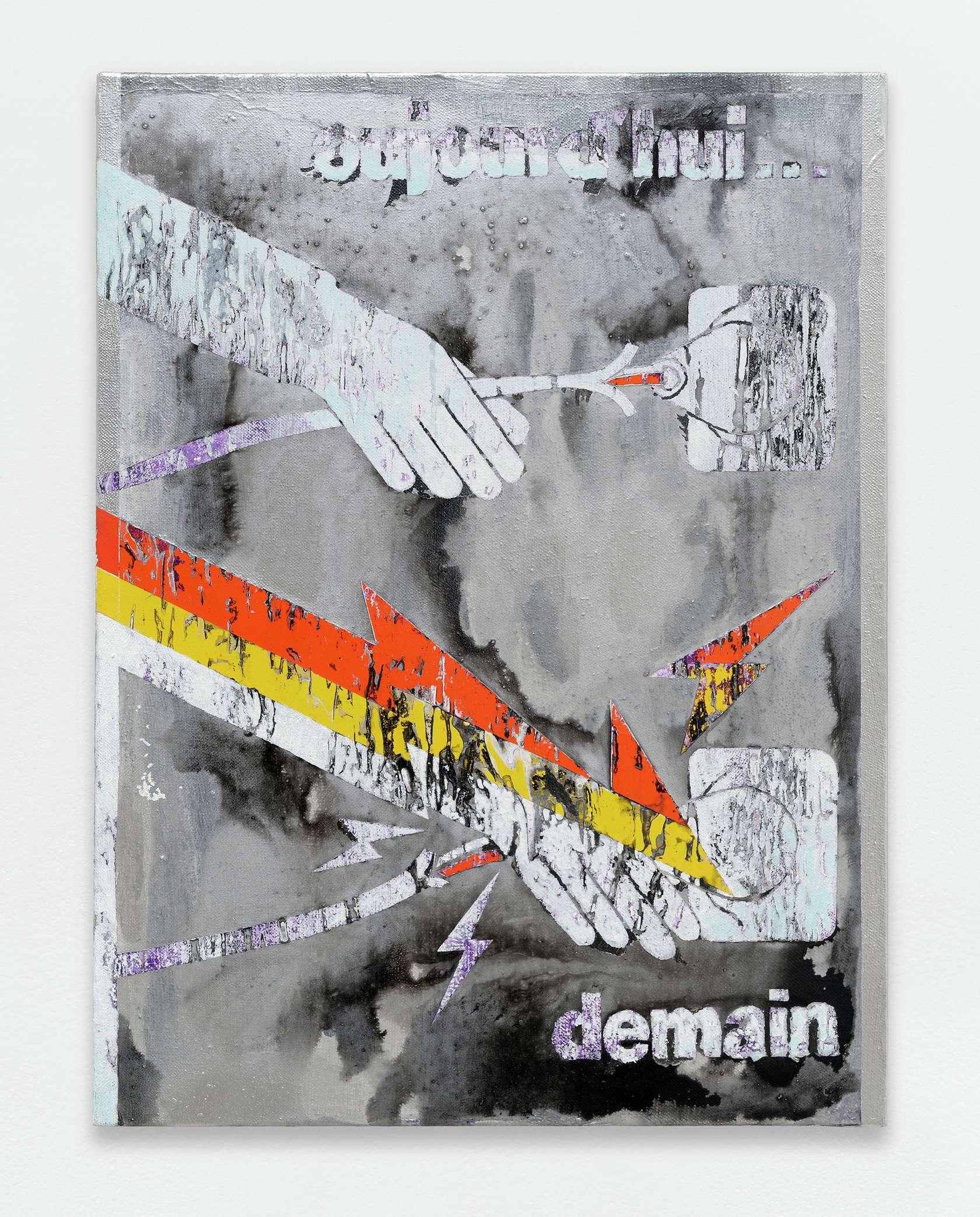Laurent Proux, Aujourd'hui... demain, 2017 Huile sur toile61.5 x 46 cm / 24 2/8 x 18 1/8 inches