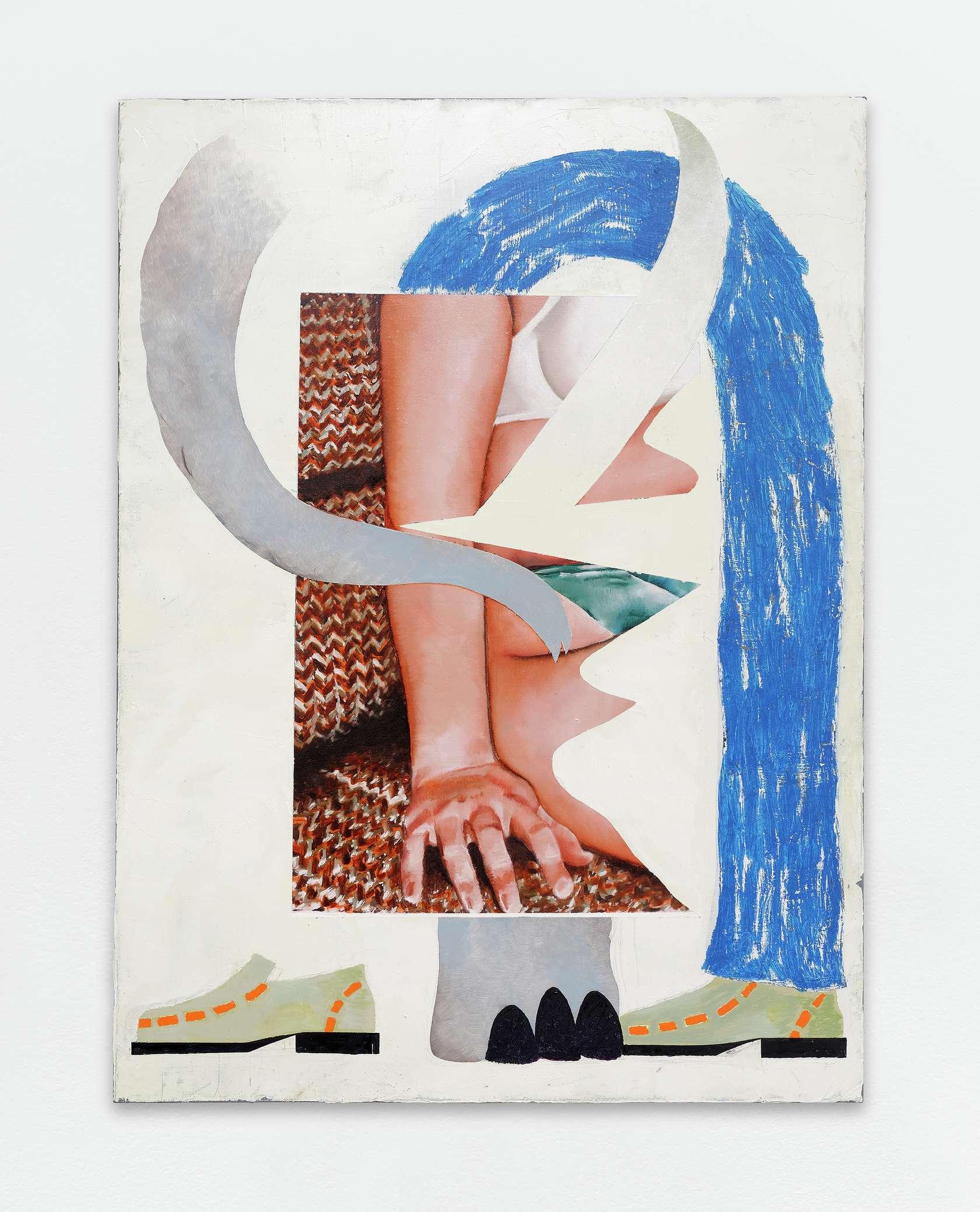 Laurent Proux, Éléphant, 2017 Huile sur toile130 × 97 cm / 51 1/8 × 38 2/8 in.