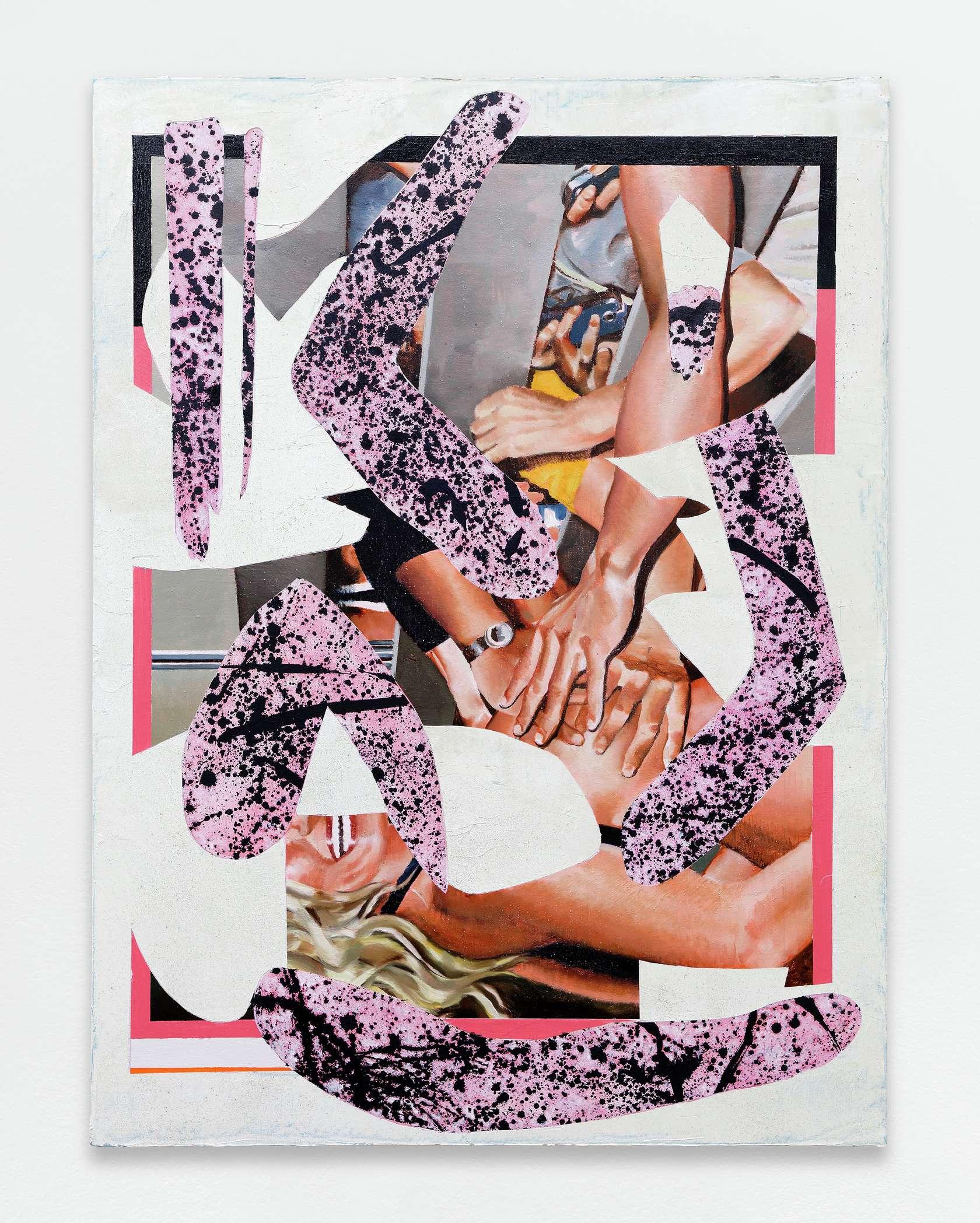 Laurent Proux, Pulp II, 2017 Huile sur toile130 × 97 cm / 51 1/8 × 38 2/8 in.