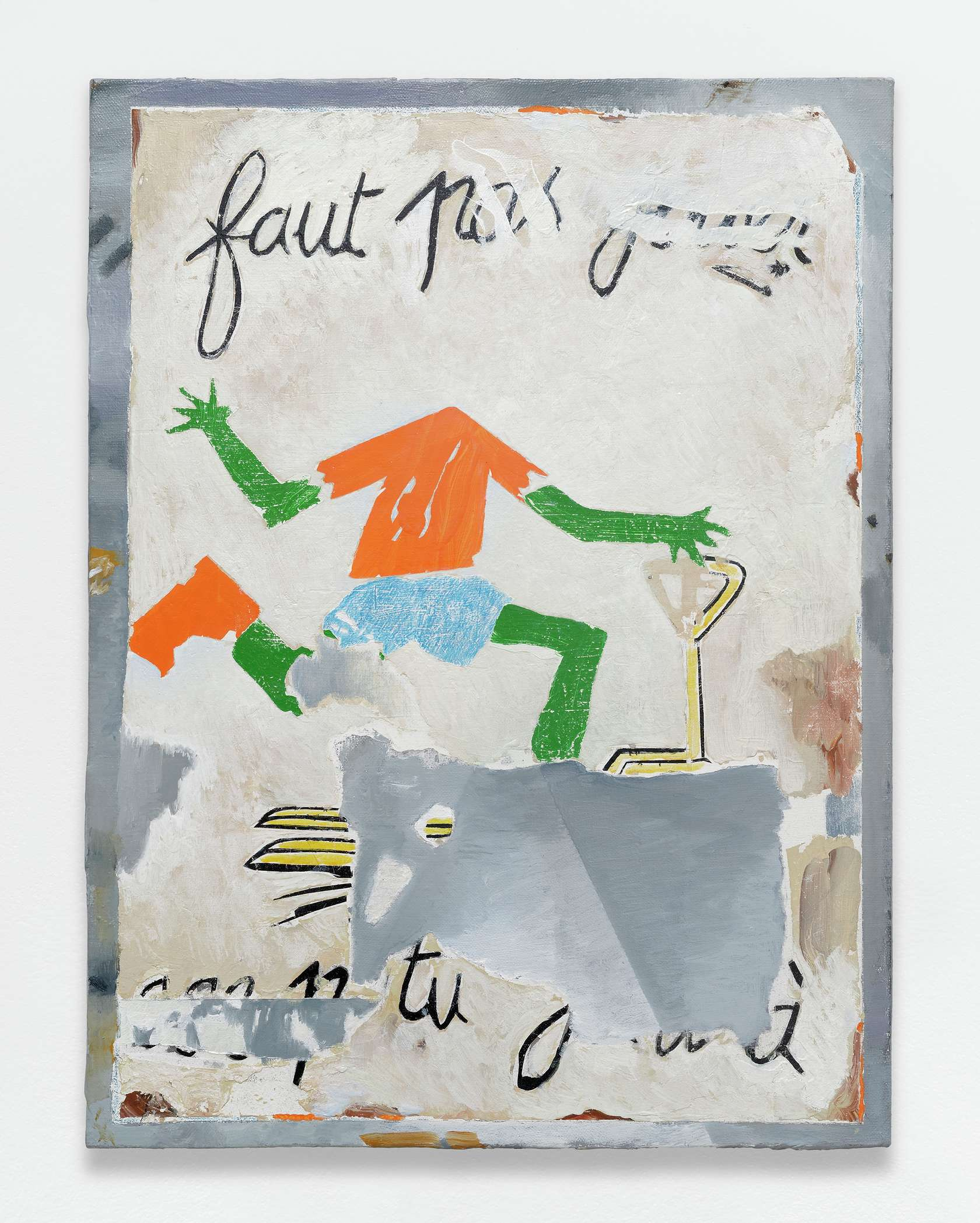 Laurent Proux, Faut pas, 2017 Huile sur toile61.5 × 46 cm / 24 2/8 × 18 1/8 in.