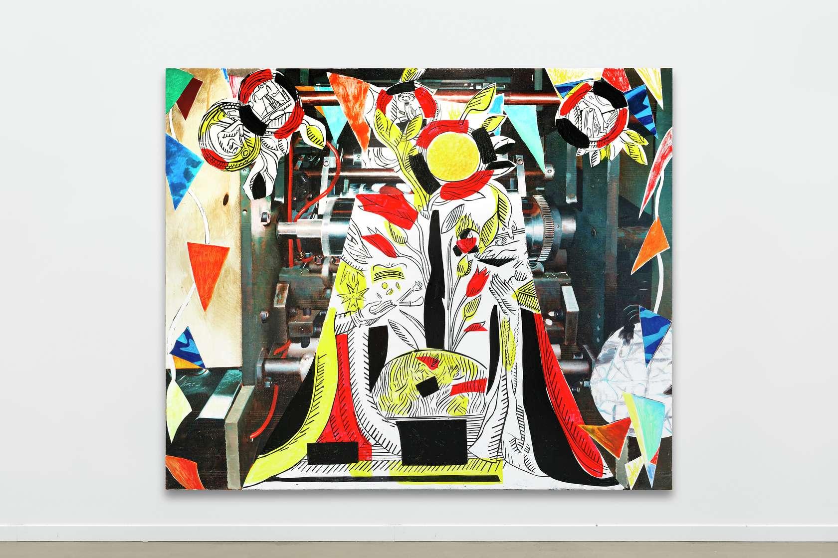 Laurent Proux, Roses et épines, 2018 Huile sur toile200 × 240 cm / 78 6/8 × 94 1/2 in.