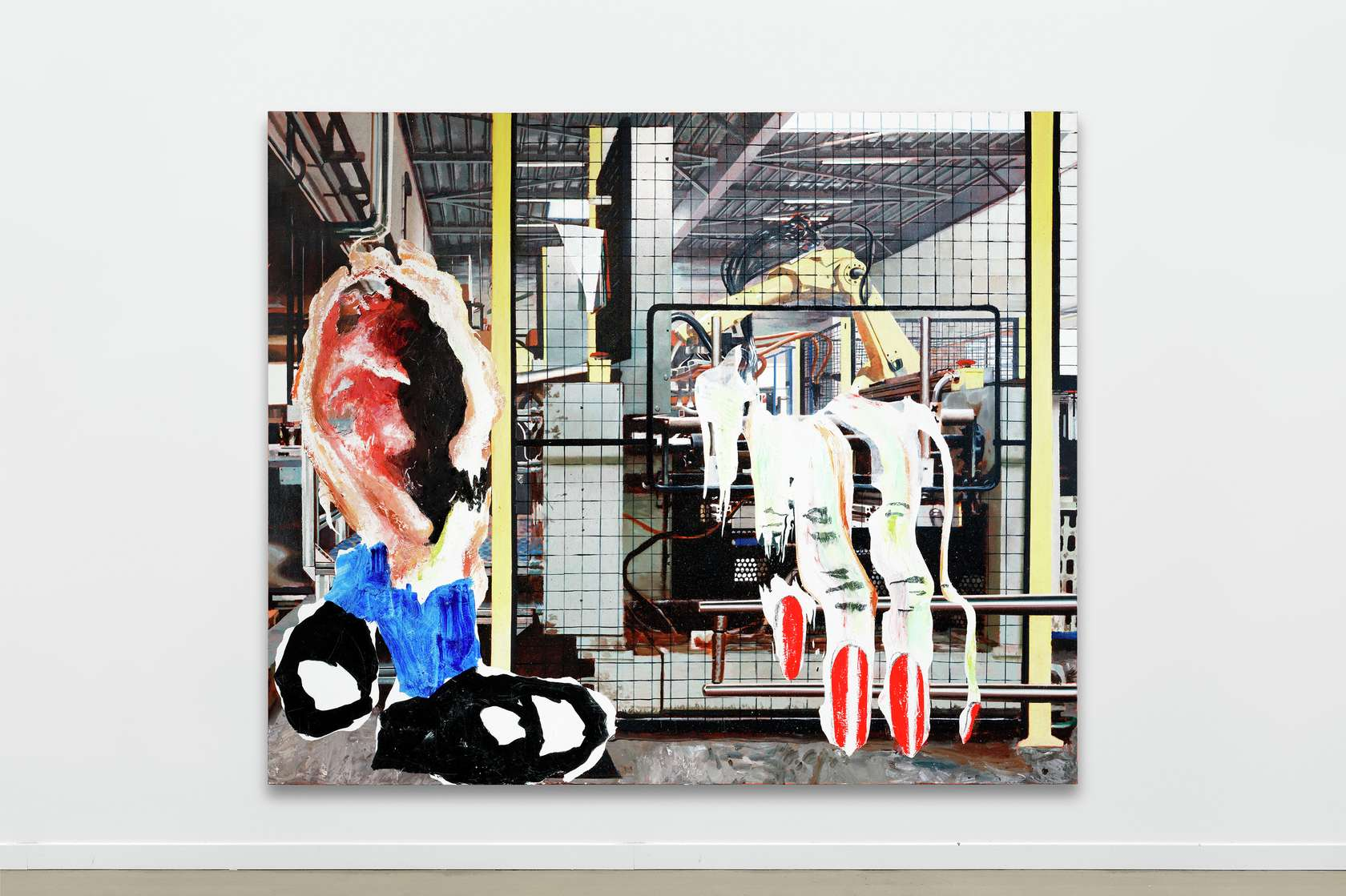 Laurent Proux, Oreille (accident), 2018 Huile sur toile240 x 200 cm / 94 1/2 x 78 6/8 inches