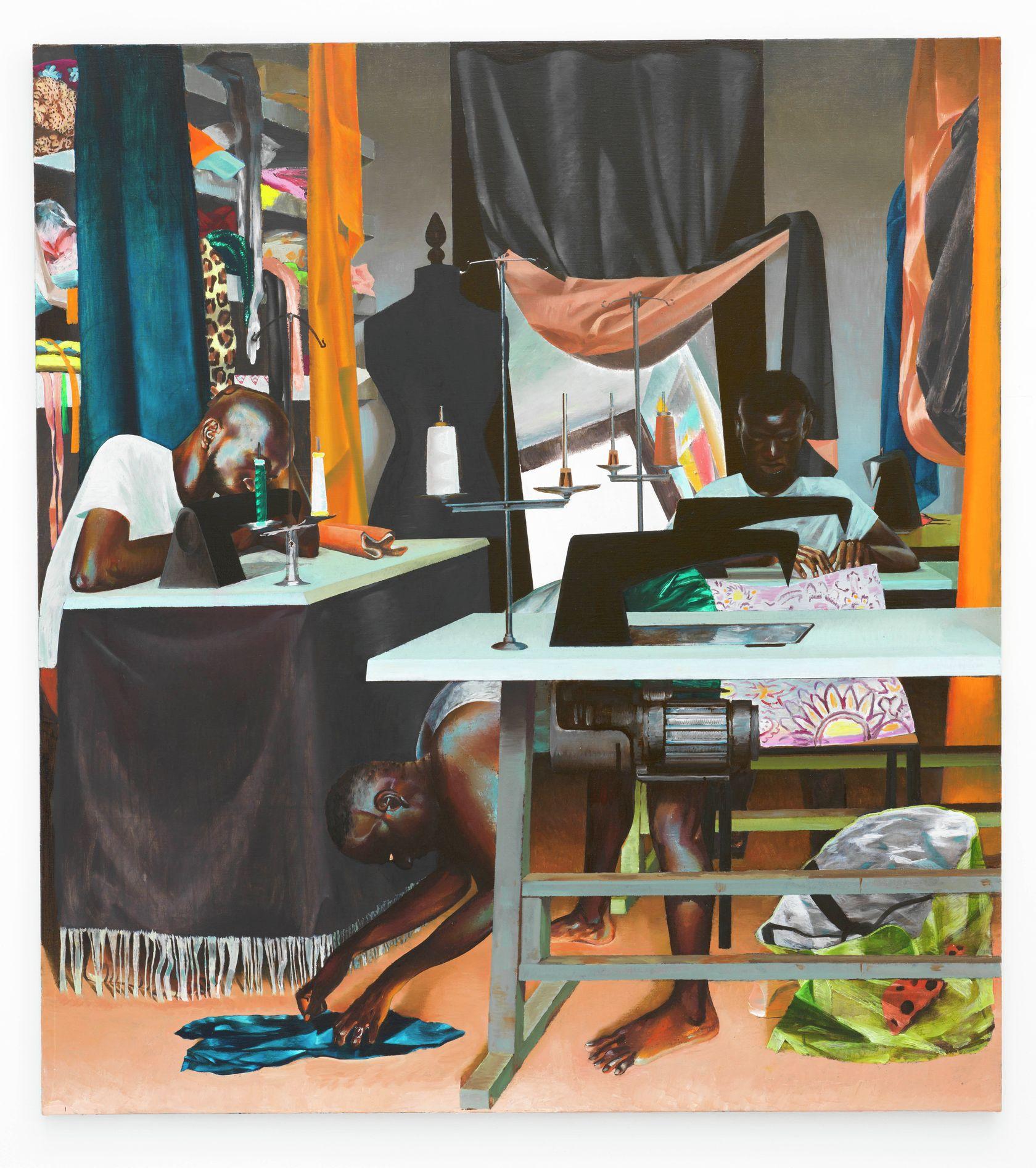 Laurent Proux, 5 rue Jean Robert, 2021 Huile sur toile200 × 180 cm / 78 6/8 × 70 7/8 in.