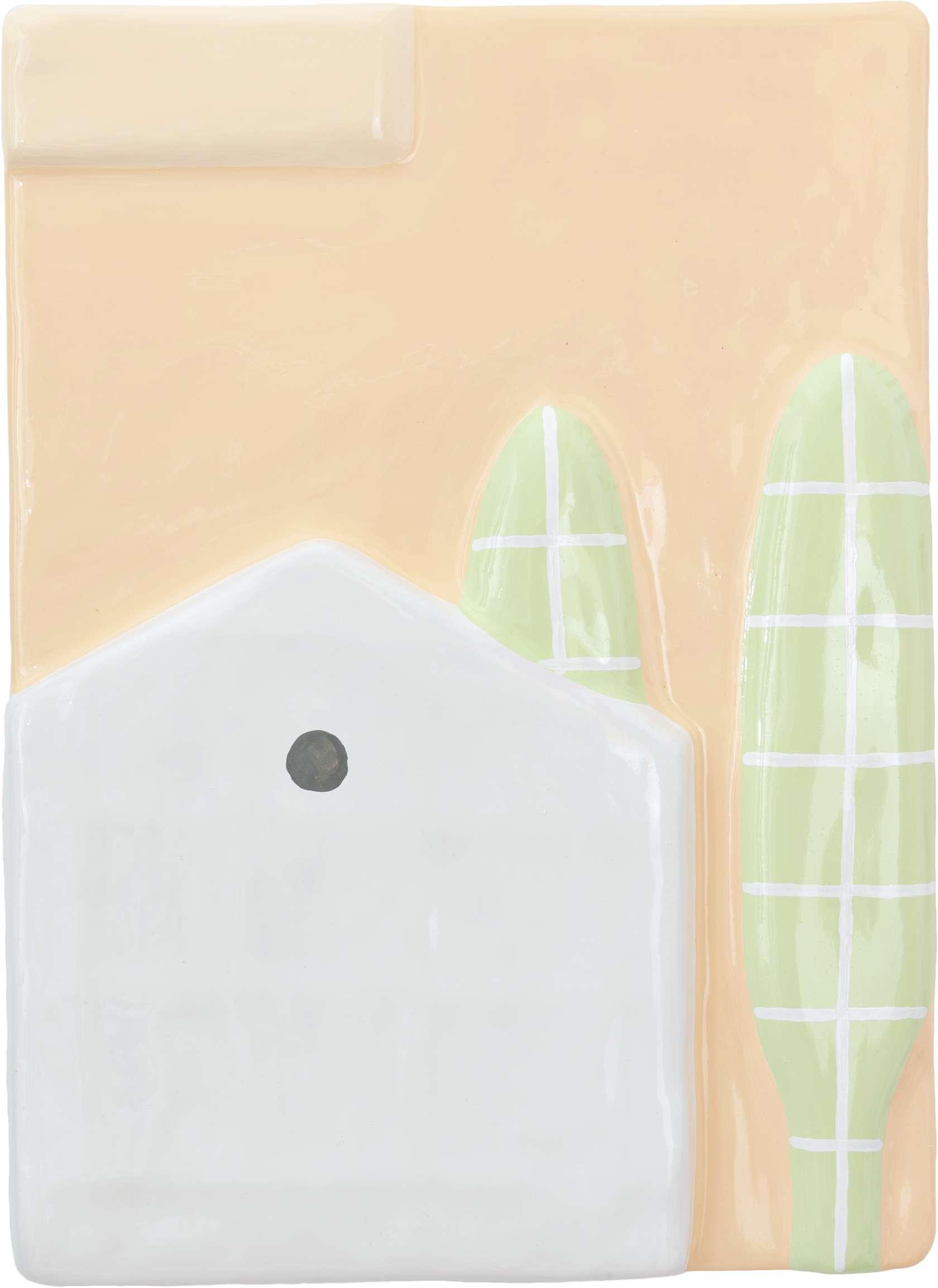 Louis Gary, Ivry, 2019 Polystyrène, bois, plâtre, peinture51 × 37 × 2 cm / 20 1/8 × 14 5/8 × 6/8 in.