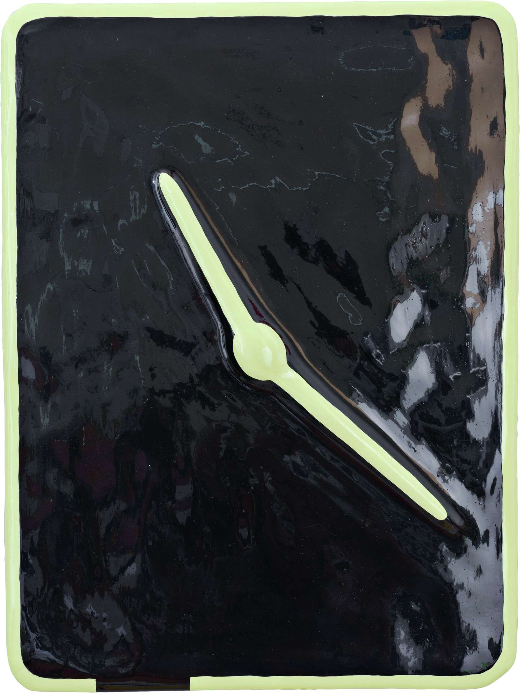 Louis Gary, Time, 2019 Polystyrène, bois, plâtre, peinture50 × 37 × 2 cm / 19 5/8 × 14 5/8 × 6/8 in.
