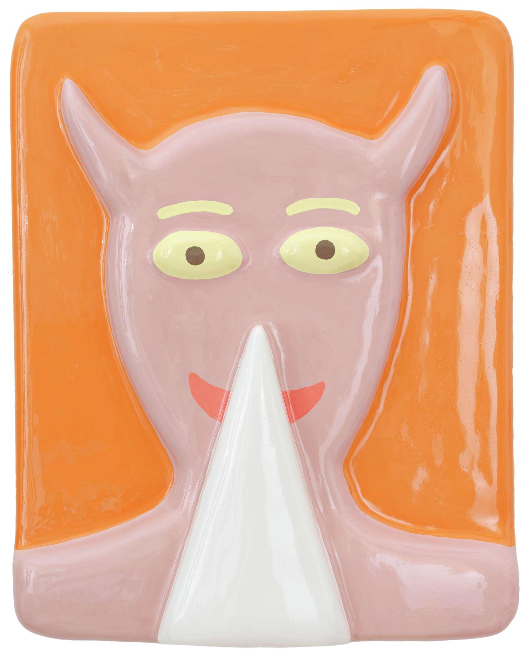 Louis Gary, He, 2019 Polystyrène, bois, plâtre, peinture50 × 40 × 8 cm / 19 5/8 × 15 3/4 × 3 1/8 in.