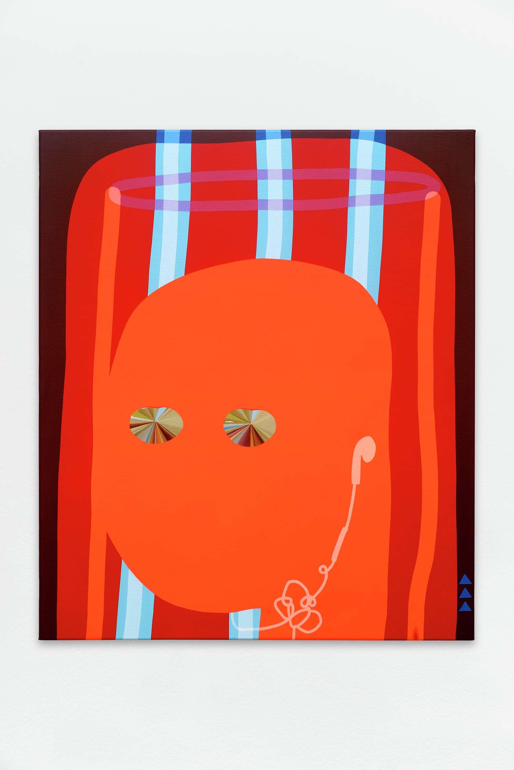 Oli Epp, Sun Angel 3000, 2017 Huile, acrylique et peinture aérosol sur toile95 × 81 cm / 37 3/8 × 31 7/8 in.