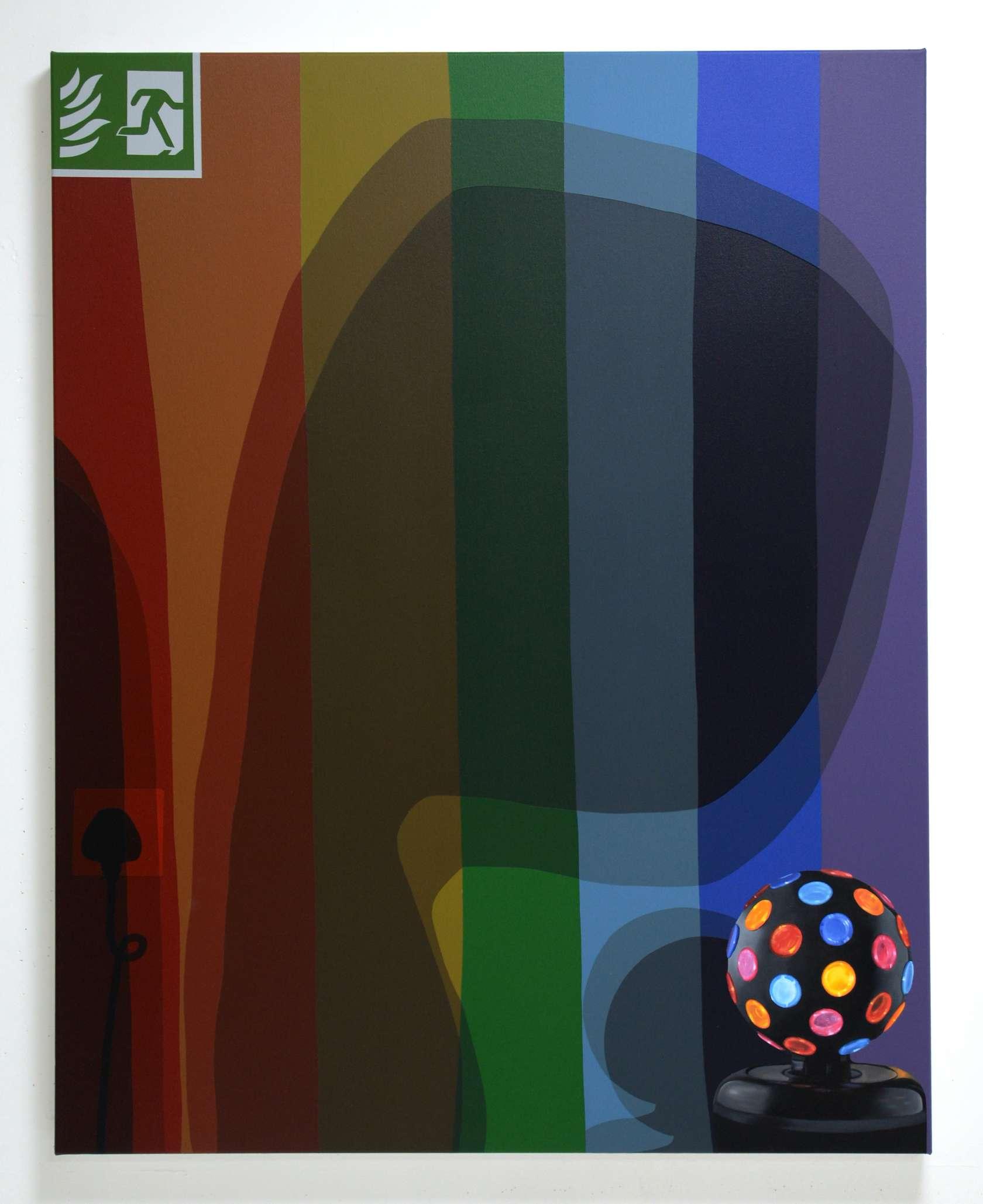 Oli Epp, Invisible, 2018 Huile, acrylique et peinture aérosol sur toile125 × 100 cm / 49 2/8 × 39 3/8 in.