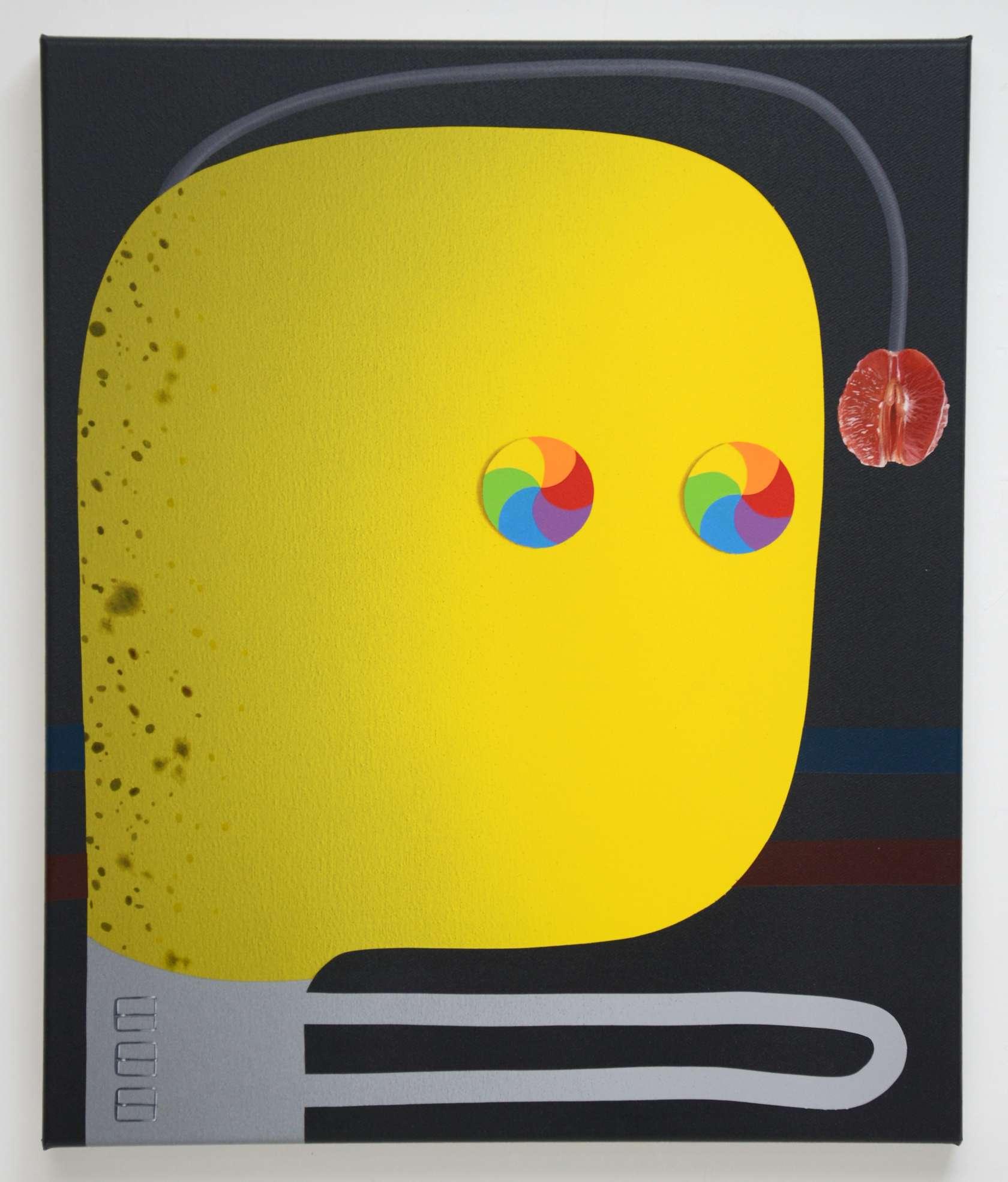 Oli Epp, Self Hypnosis, 2018 Huile, acrylique et peinture aérosol sur toile60 × 50 cm / 23 5/8 × 19 5/8 in.