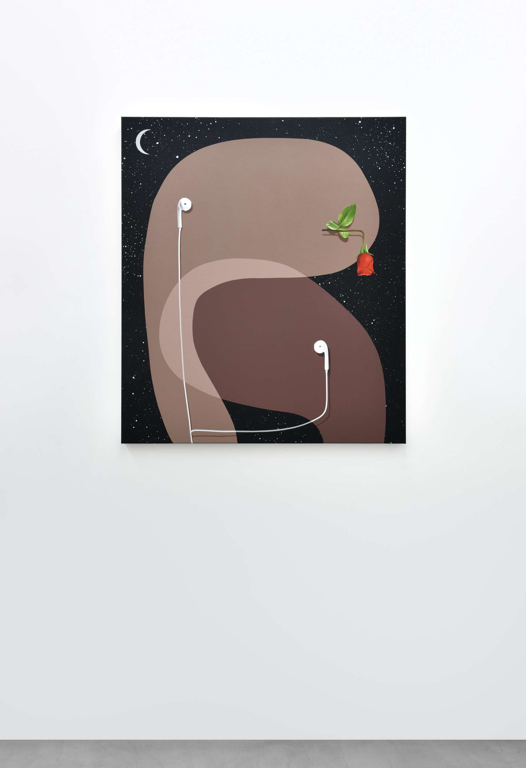 Oli Epp, Romantic Playlist, 2018 Huile, acrylique et peinture aérosol sur toile115 × 100 cm / 45 2/8 × 39 3/8 in.