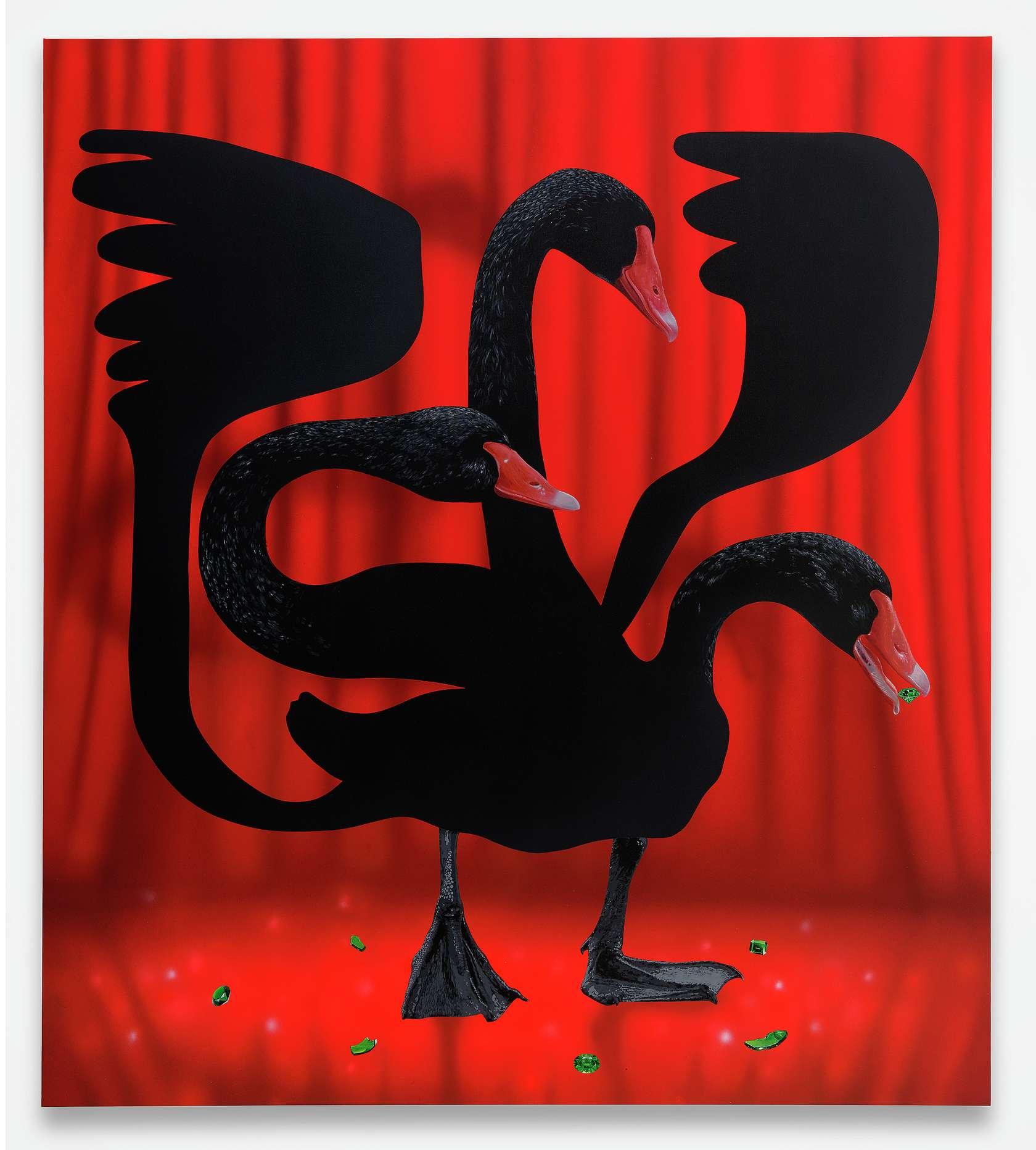 Oli Epp, Omen, 2020 Huile et acrylique sur toile180 × 160 cm / 70 7/8 × 63  in.