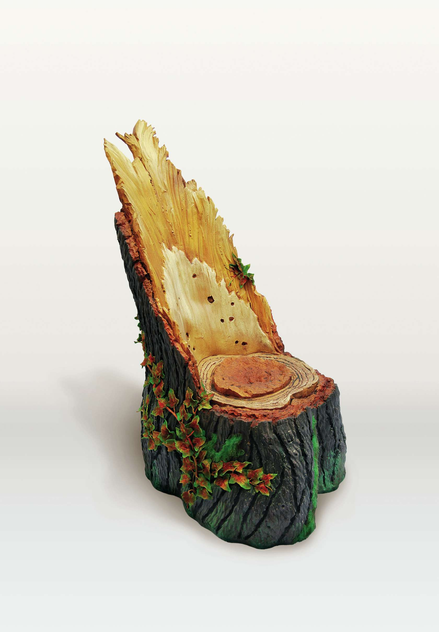 Piero Gilardi, Tronco-Sedile, 2009 Mousse de polyuréthane140 × 80 × 100 cm / 55 1/8 × 31 1/2 × 39 3/8 in.