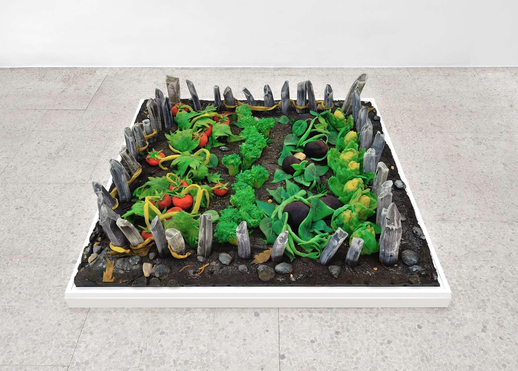 Piero Gilardi, Orticello, 1966 Mousse de polyuréthane145 × 140 × 30 cm / 57 1/8 × 55 1/8 × 11 6/8 in.