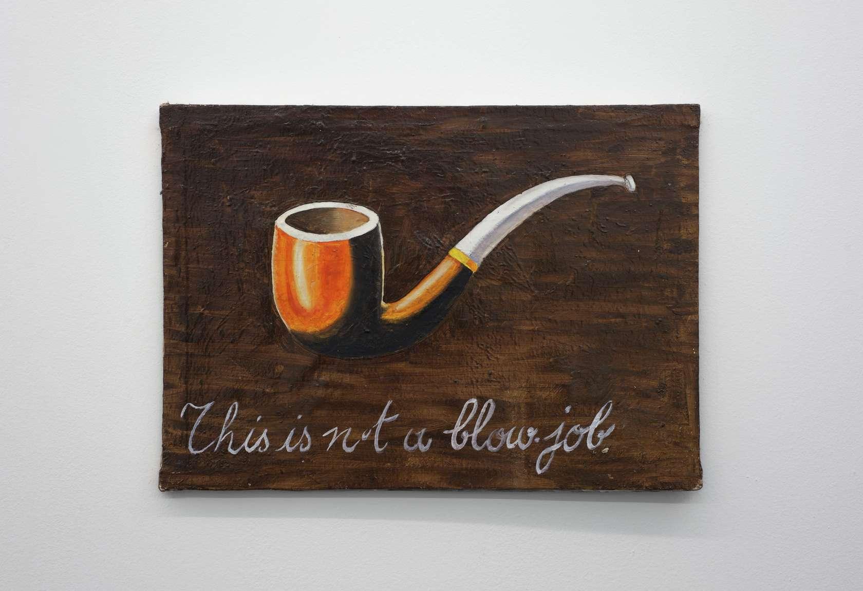 Présence Panchounette, This is not a blowjob, 1979 Huile et acrylique sur toile