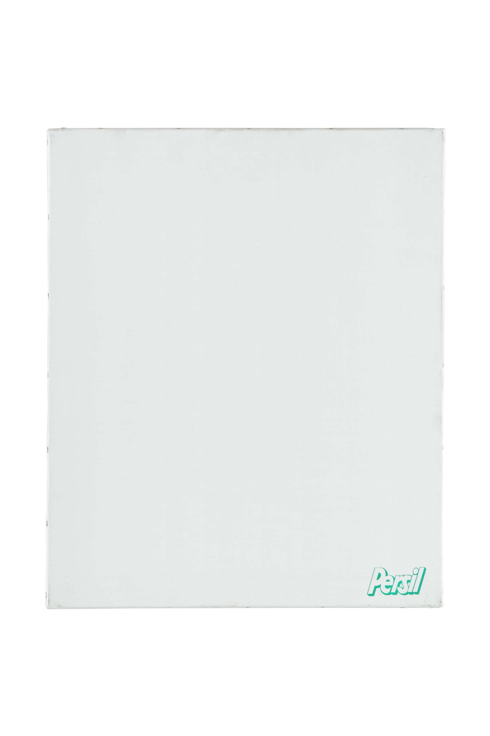 Présence Panchounette, Monochrome lessive (Persil), 1988 Acrylique et décalcomanie sur toile46 x 38cm / 18 1/8 x 15 inches